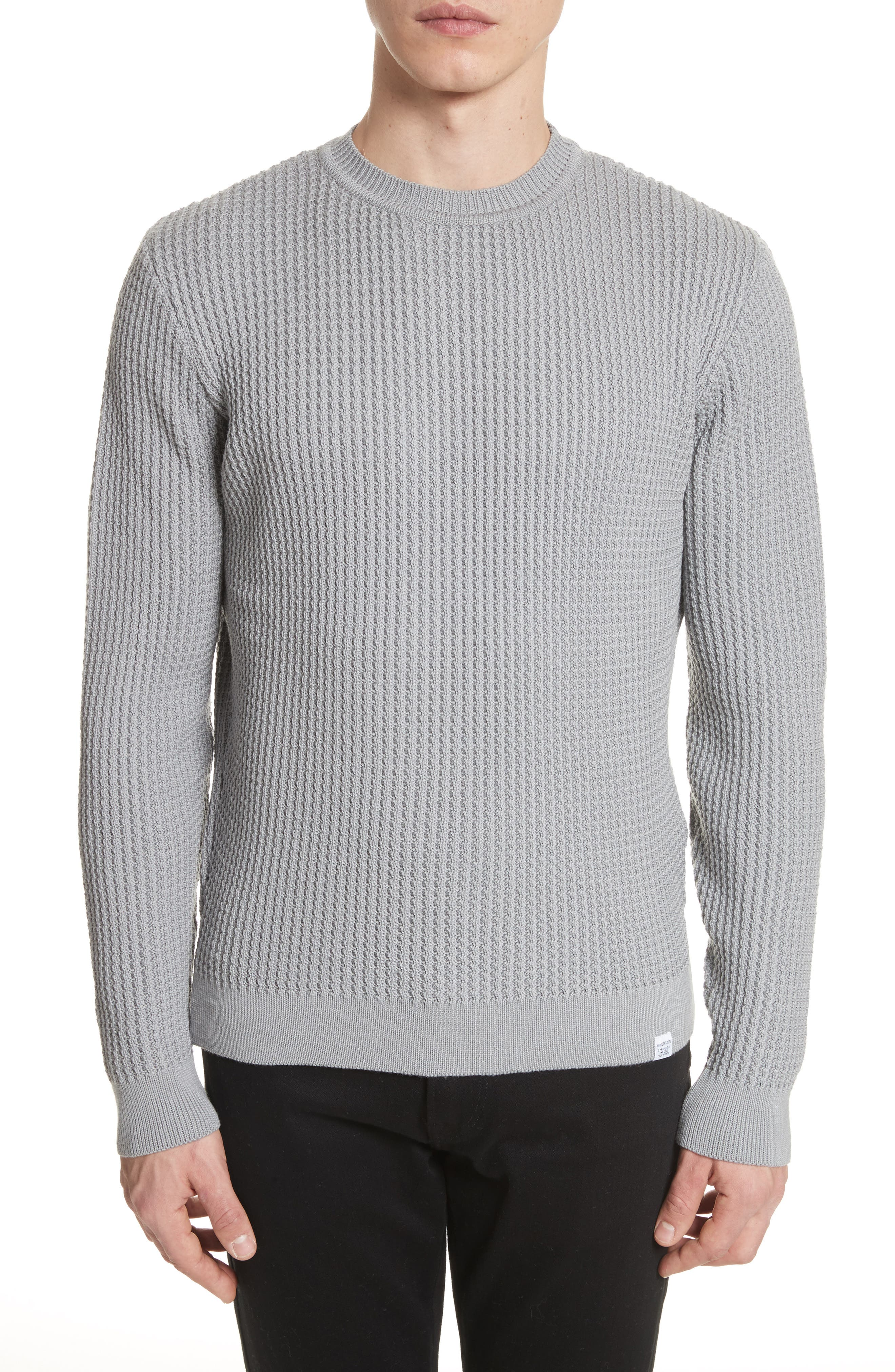 Sigfred Merino Wool Sweater,                         Main,                         color, Titanium