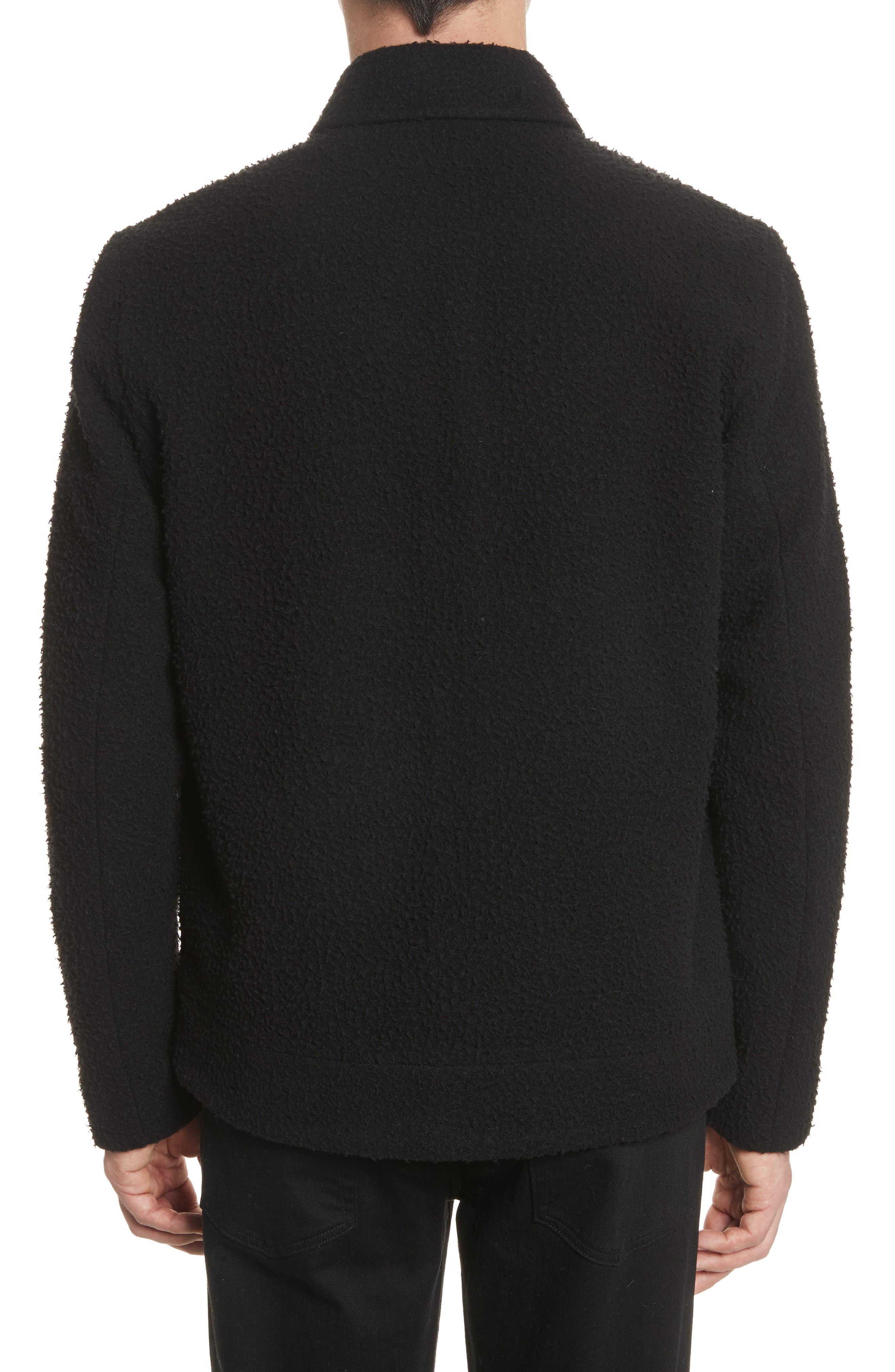 Elliott Boiled Wool Blend Jacket,                             Alternate thumbnail 2, color,                             Black
