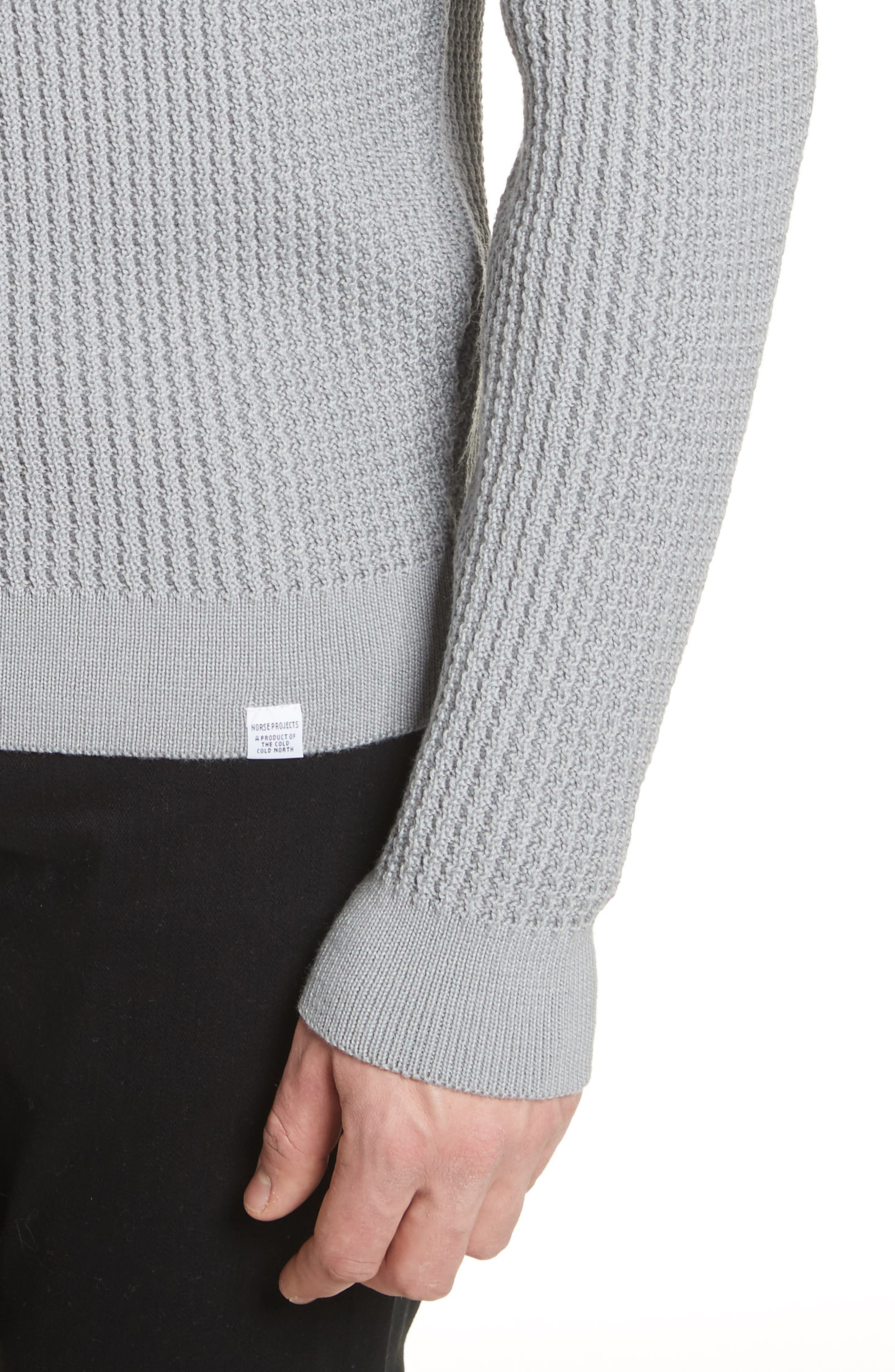 Sigfred Merino Wool Sweater,                             Alternate thumbnail 4, color,                             Titanium
