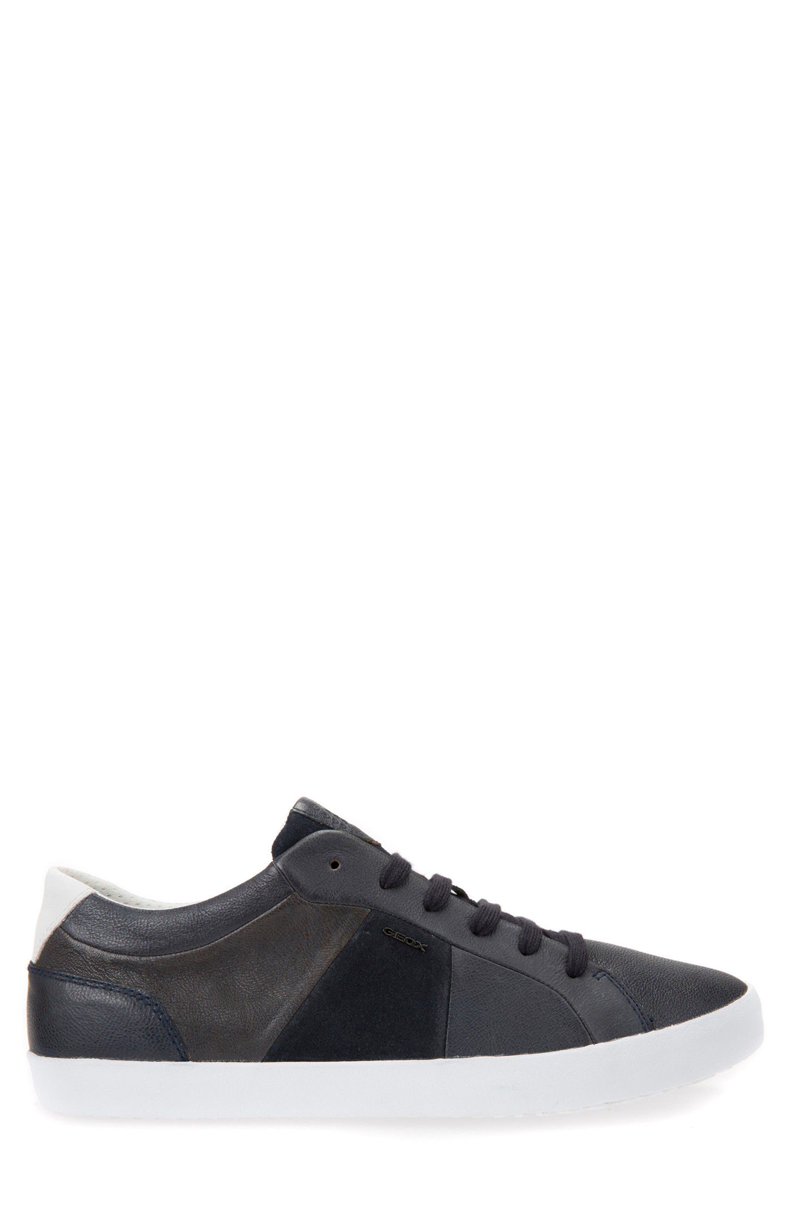 Smart 77 Sneaker,                             Alternate thumbnail 3, color,                             Navy Leather