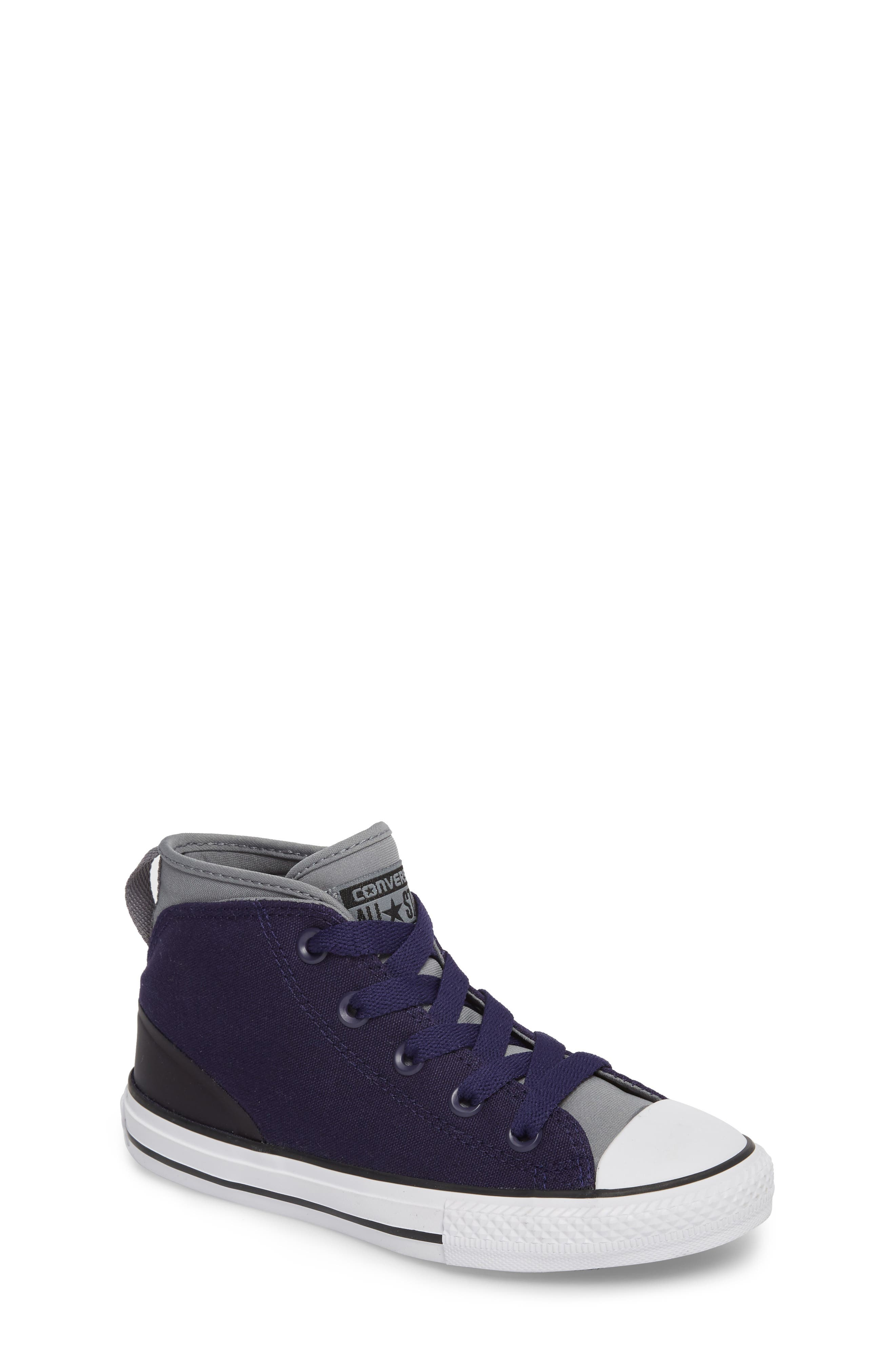 Chuck Taylor<sup>®</sup> All Star<sup>®</sup> Syde Street High Top Sneaker,                             Main thumbnail 1, color,                             Midnight Canvas
