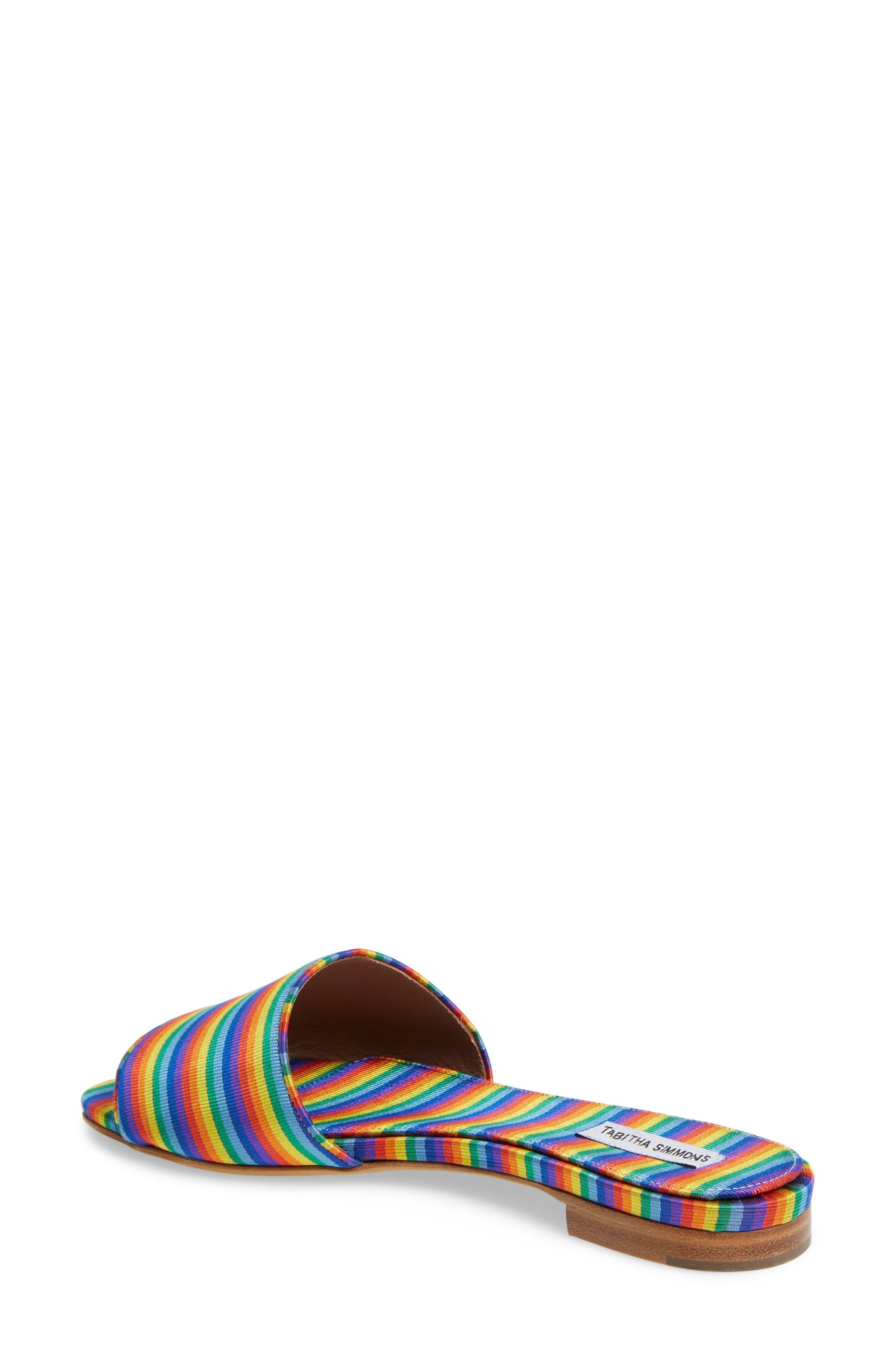 Sprinkles Slide Sandal,                             Alternate thumbnail 2, color,                             Rainbow