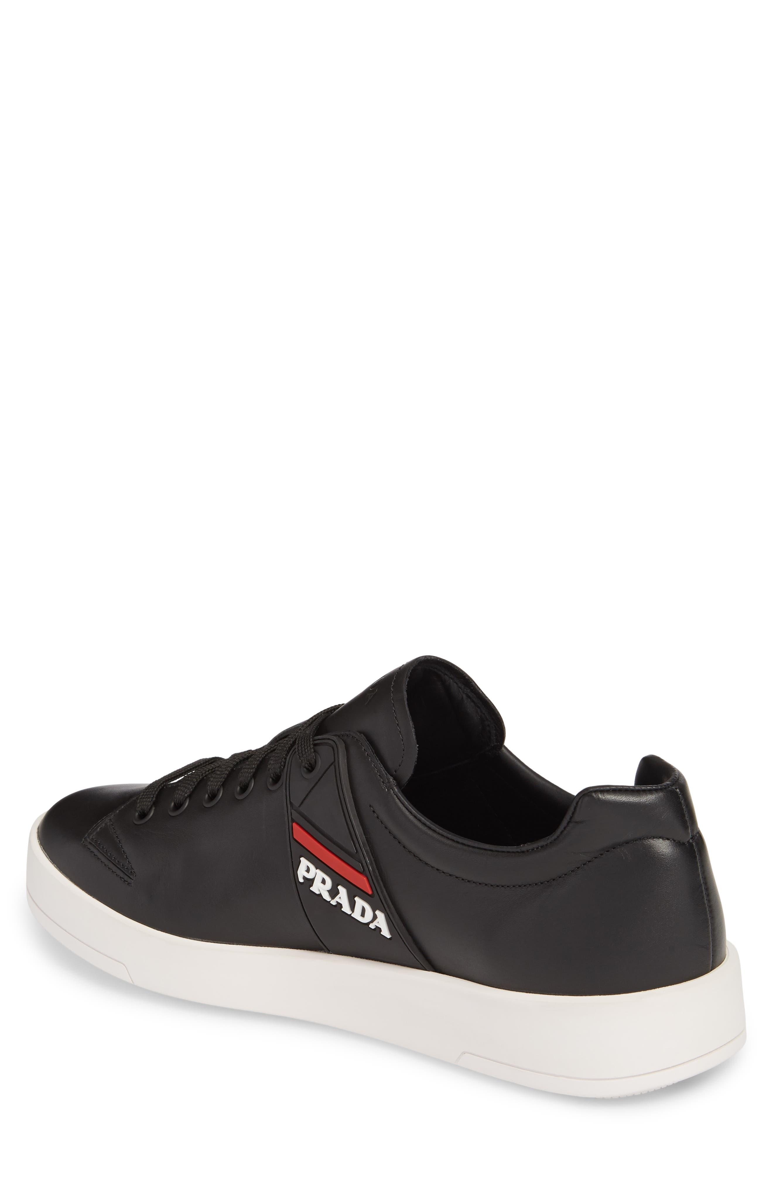 Linea Rossa Sneaker,                             Alternate thumbnail 2, color,                             Nero Bianco