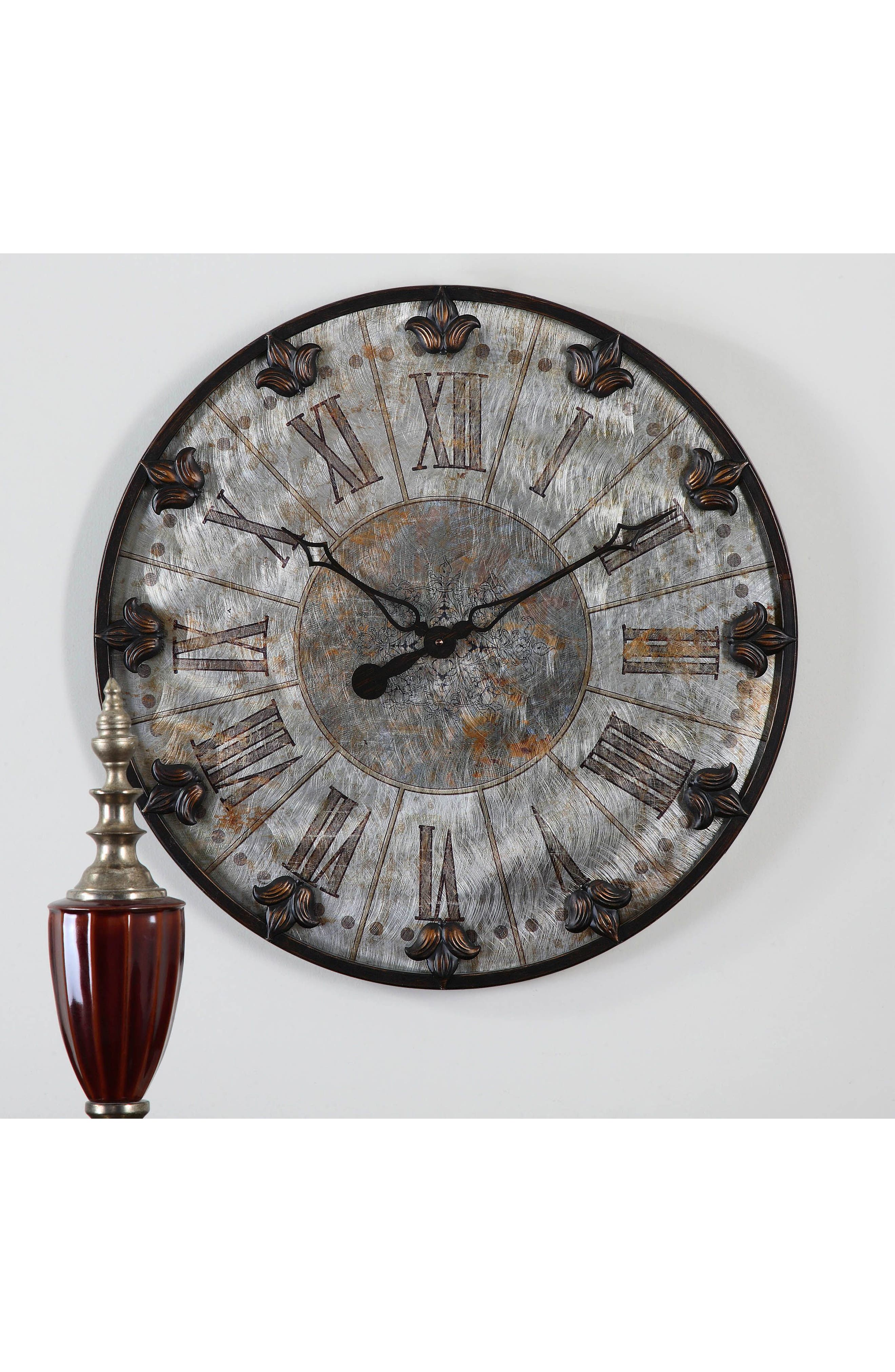 Artemis Wall Clock,                             Alternate thumbnail 2, color,                             Metallic Rust/ Copper