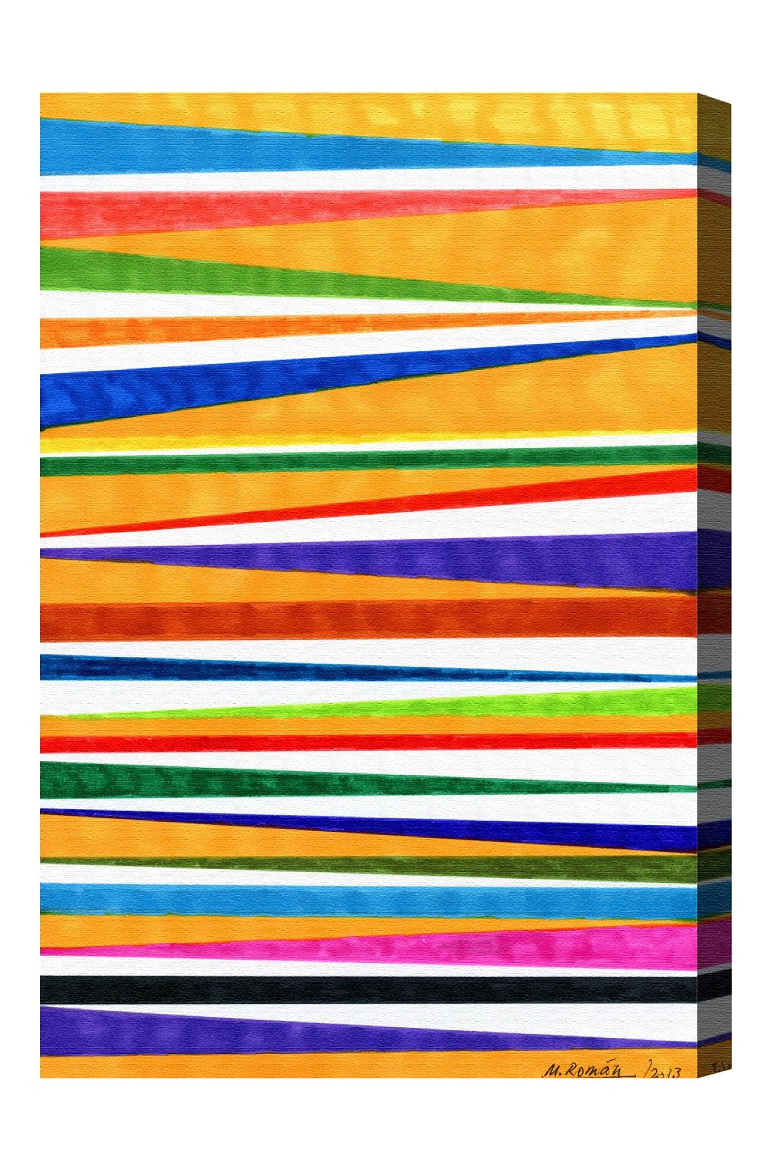 Canotiers in Color Canvas Wall Art,                         Main,                         color, Orange