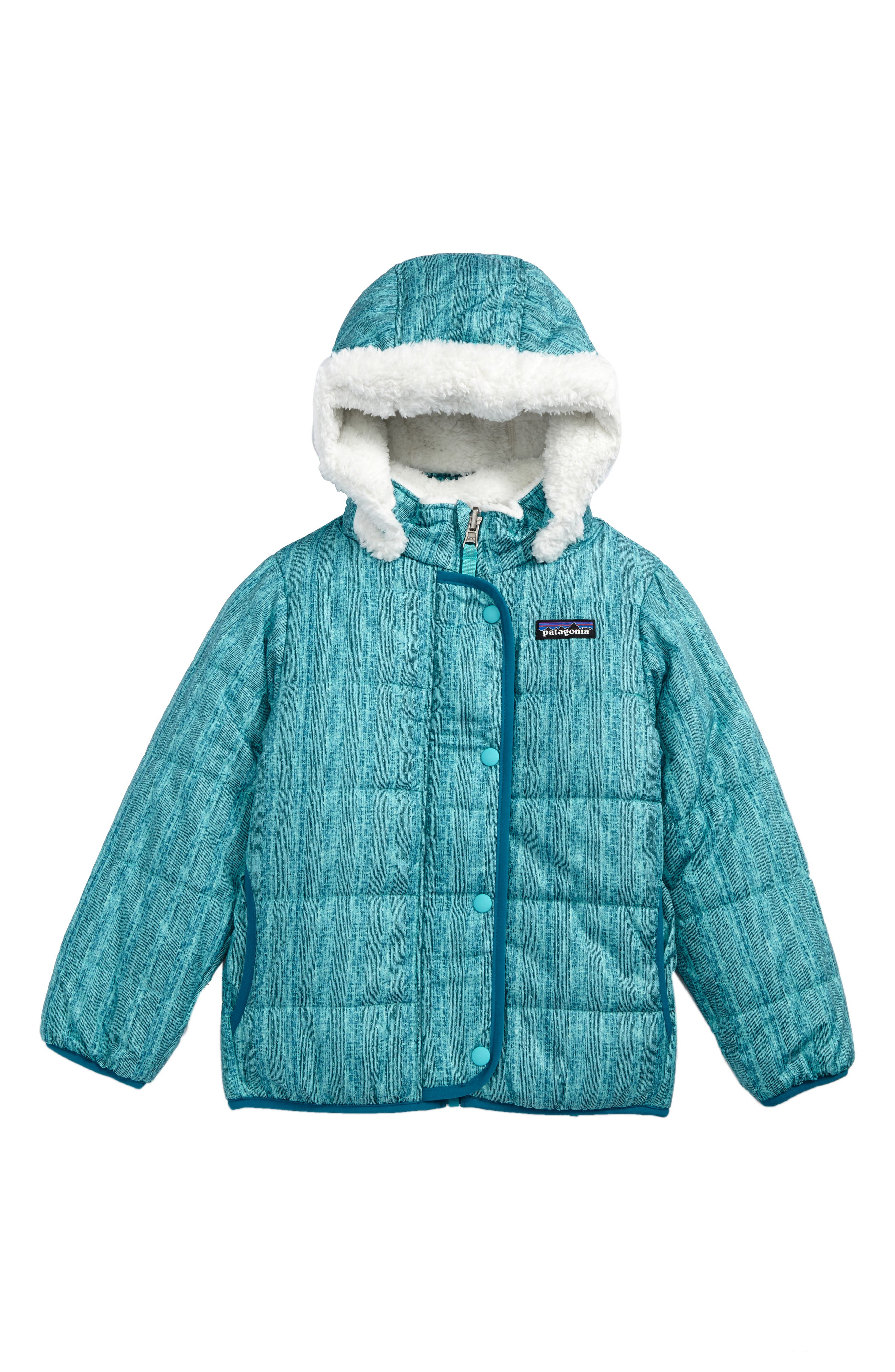 Dream Song Water Repellent Reversible Jacket,                             Main thumbnail 1, color,                             Downstream Dobby/ Strait Blue