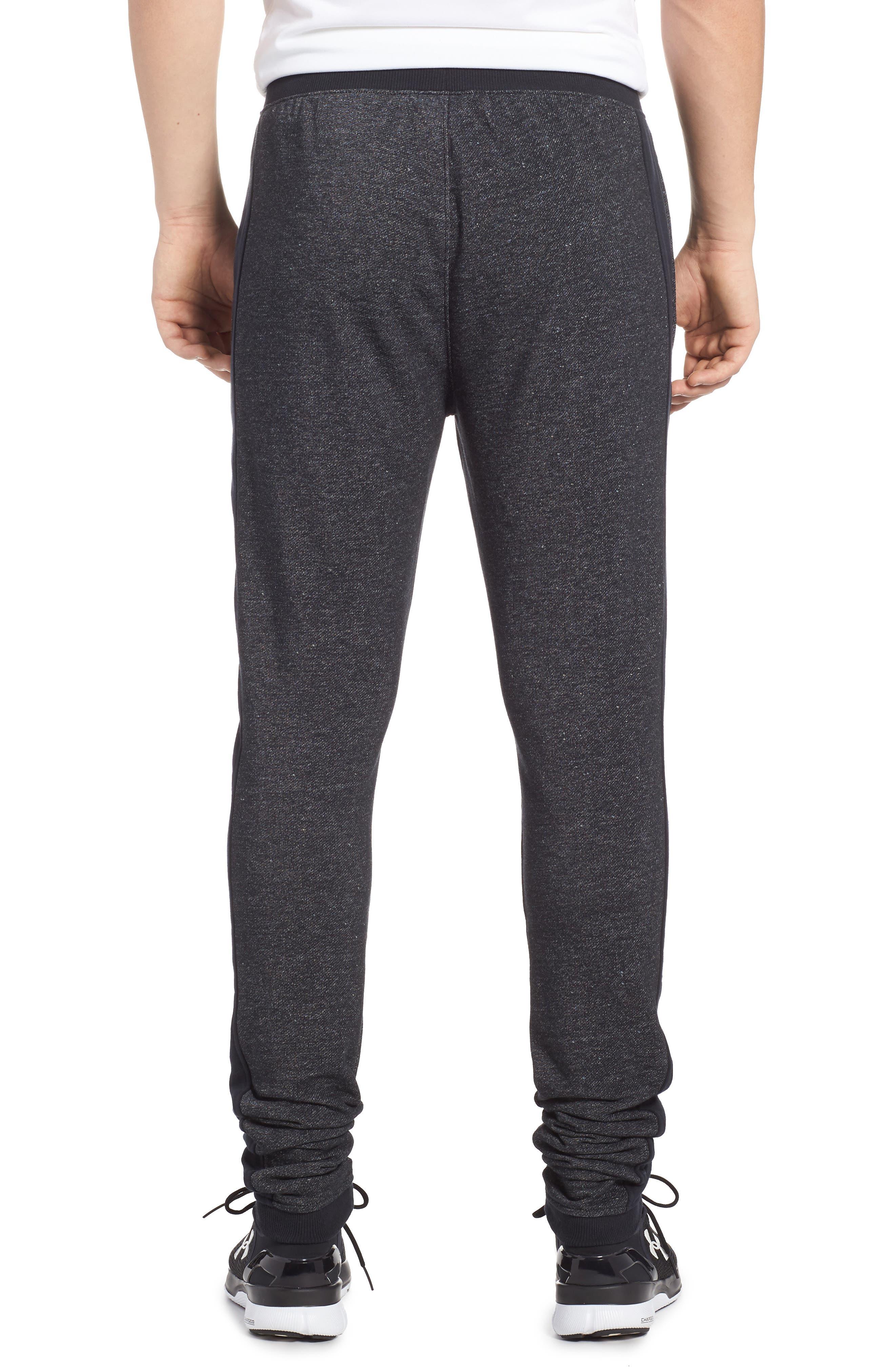 Sportstyle Fitted Fleece Leggings,                             Alternate thumbnail 2, color,                             Black