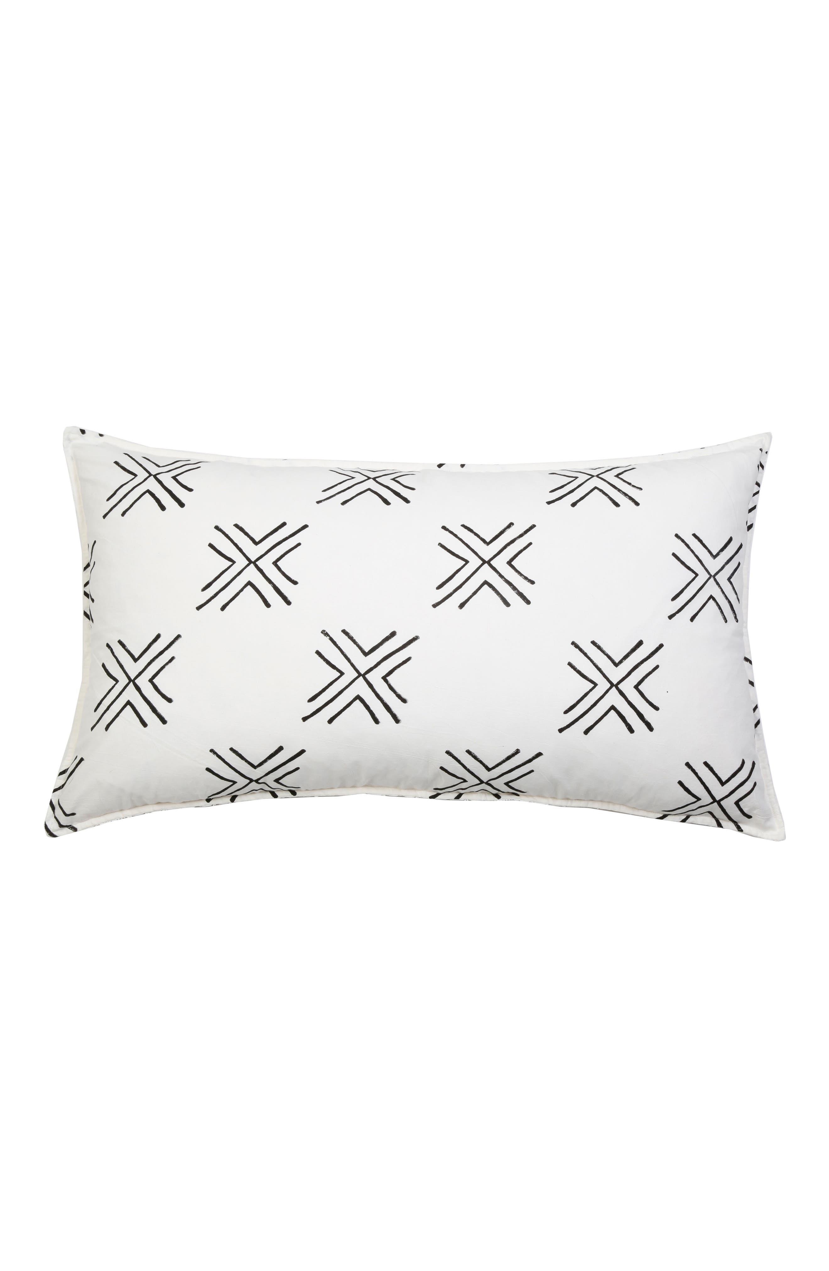 Arrow Accent Pillow,                         Main,                         color, White Multi