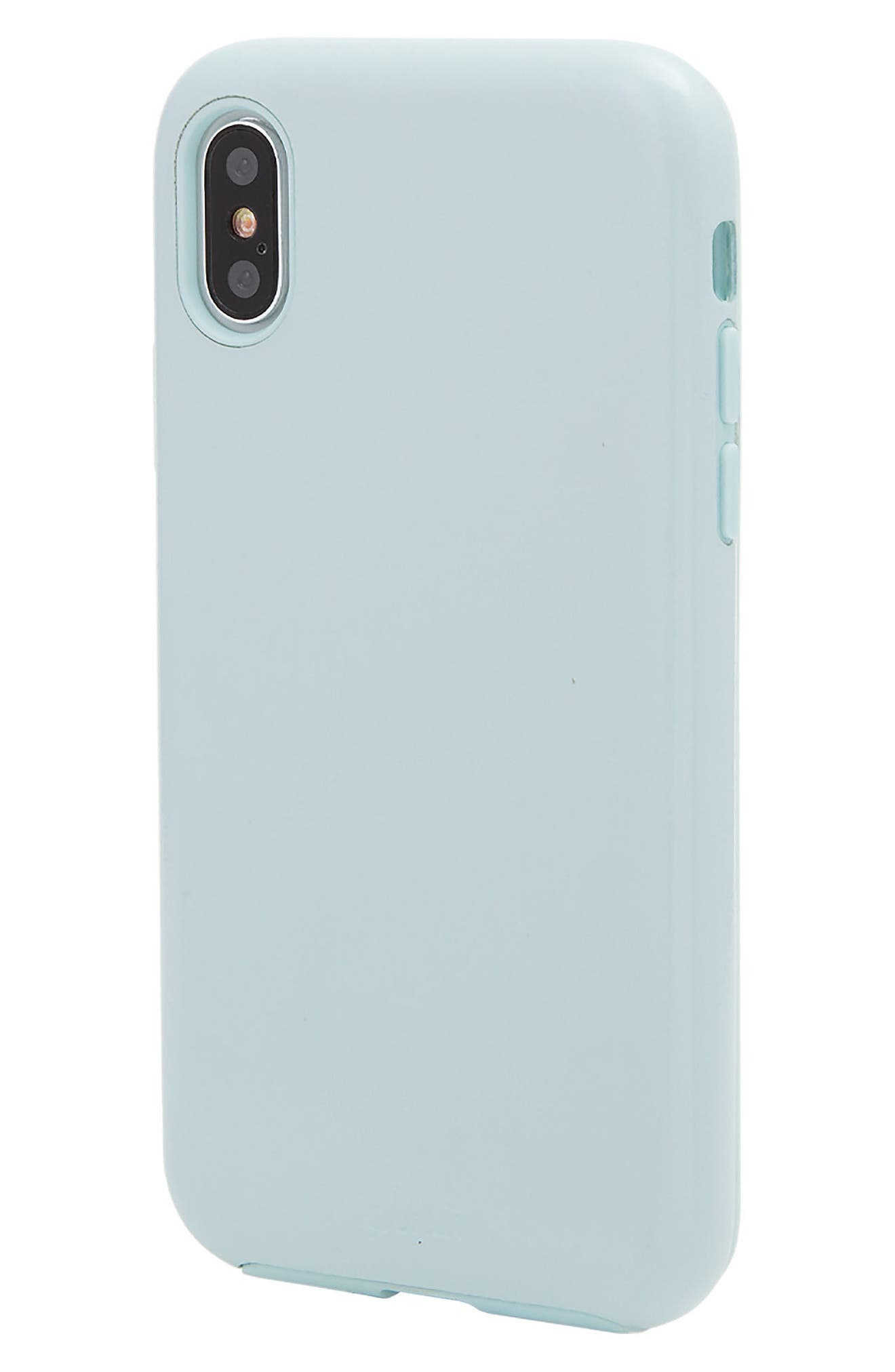 Alternate Image 2  - Sonix Powder Blue Faux Leather iPhone X Case