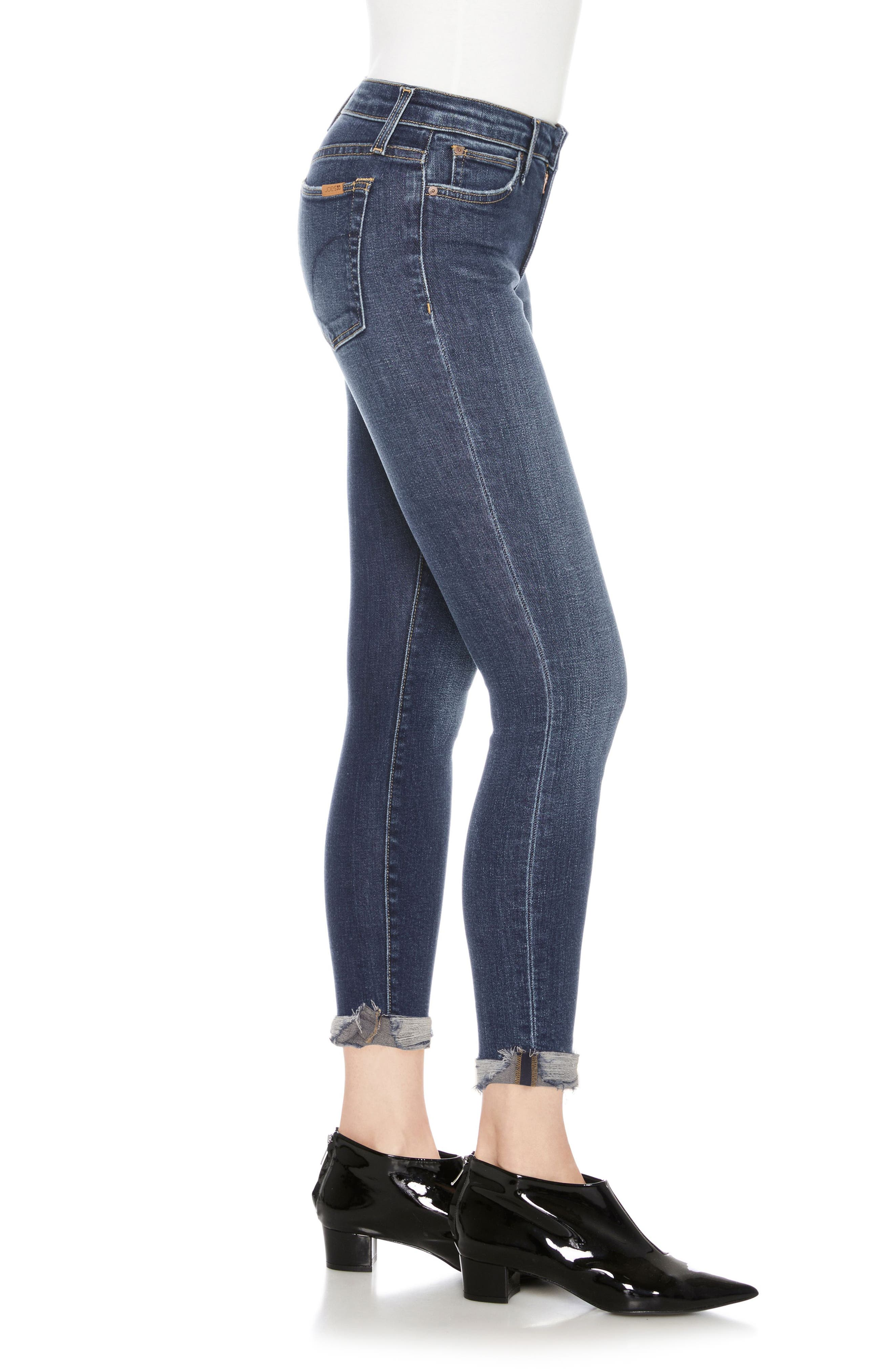 Icon Ankle Skinny Jeans,                             Alternate thumbnail 3, color,                             Theodora