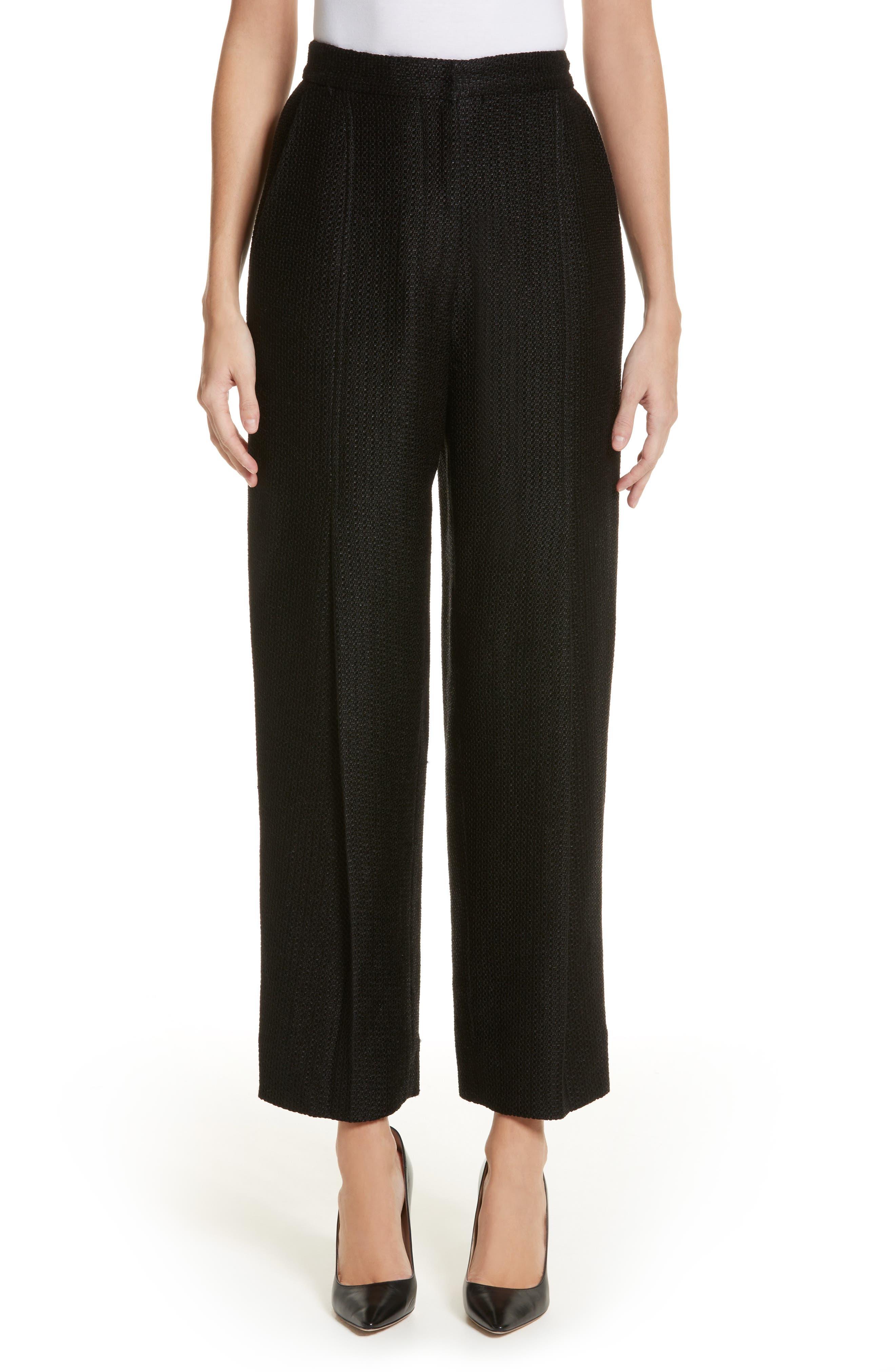 Tweed Pants,                             Main thumbnail 1, color,                             Black