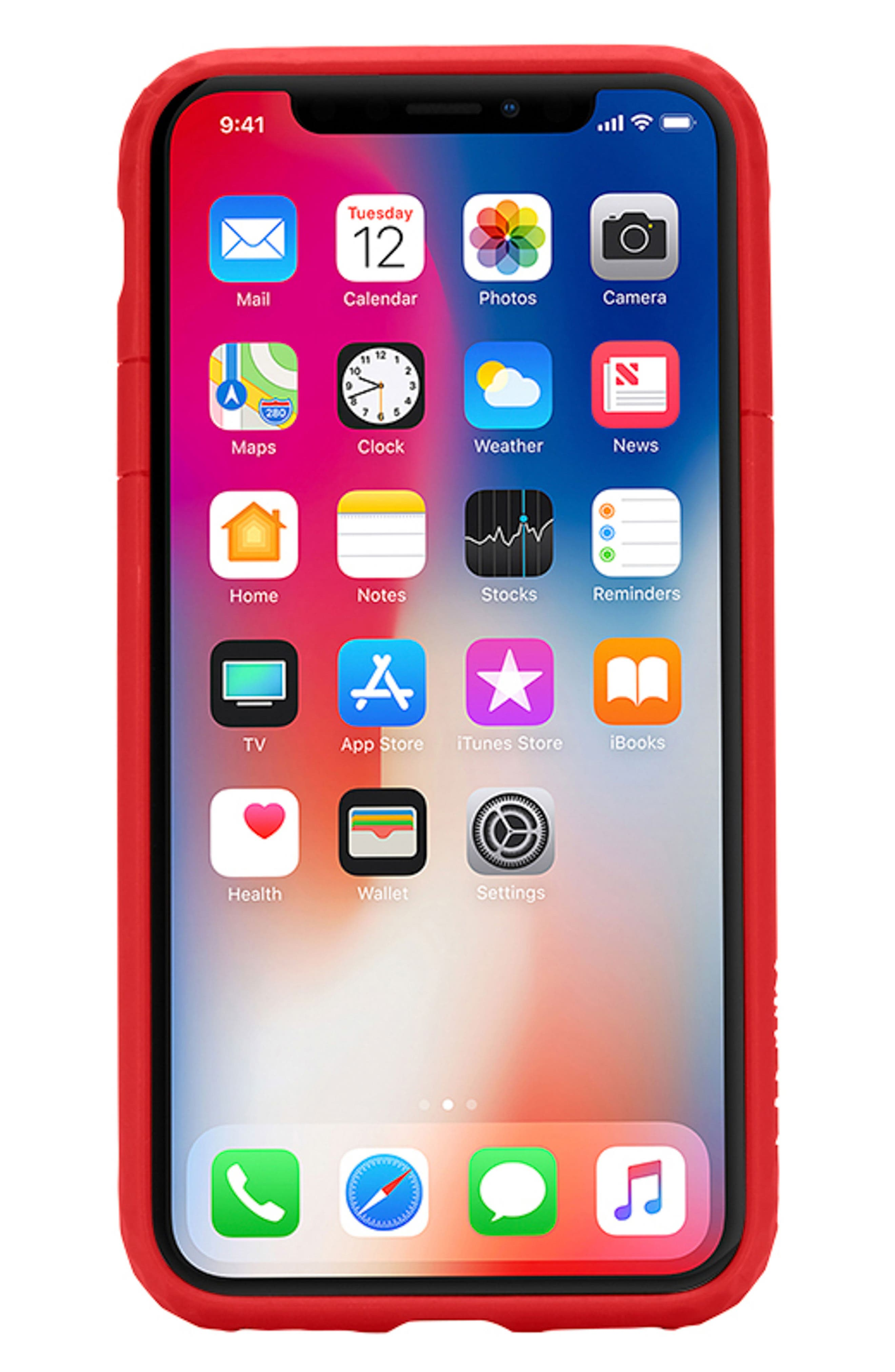 Frame iPhone X Case,                         Main,                         color, Red