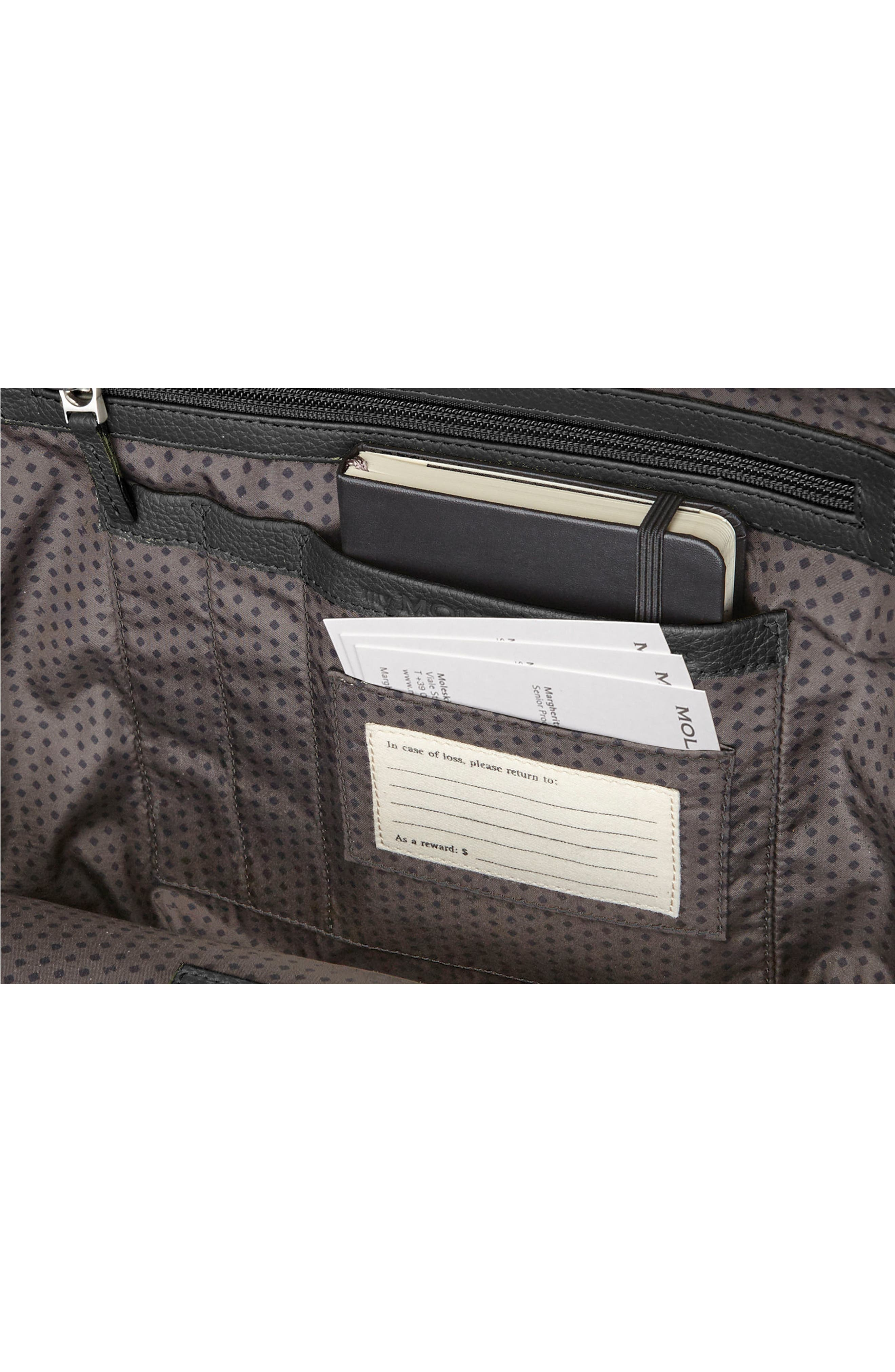 Alternate Image 4  - Moleskine Leather Reporter Bag