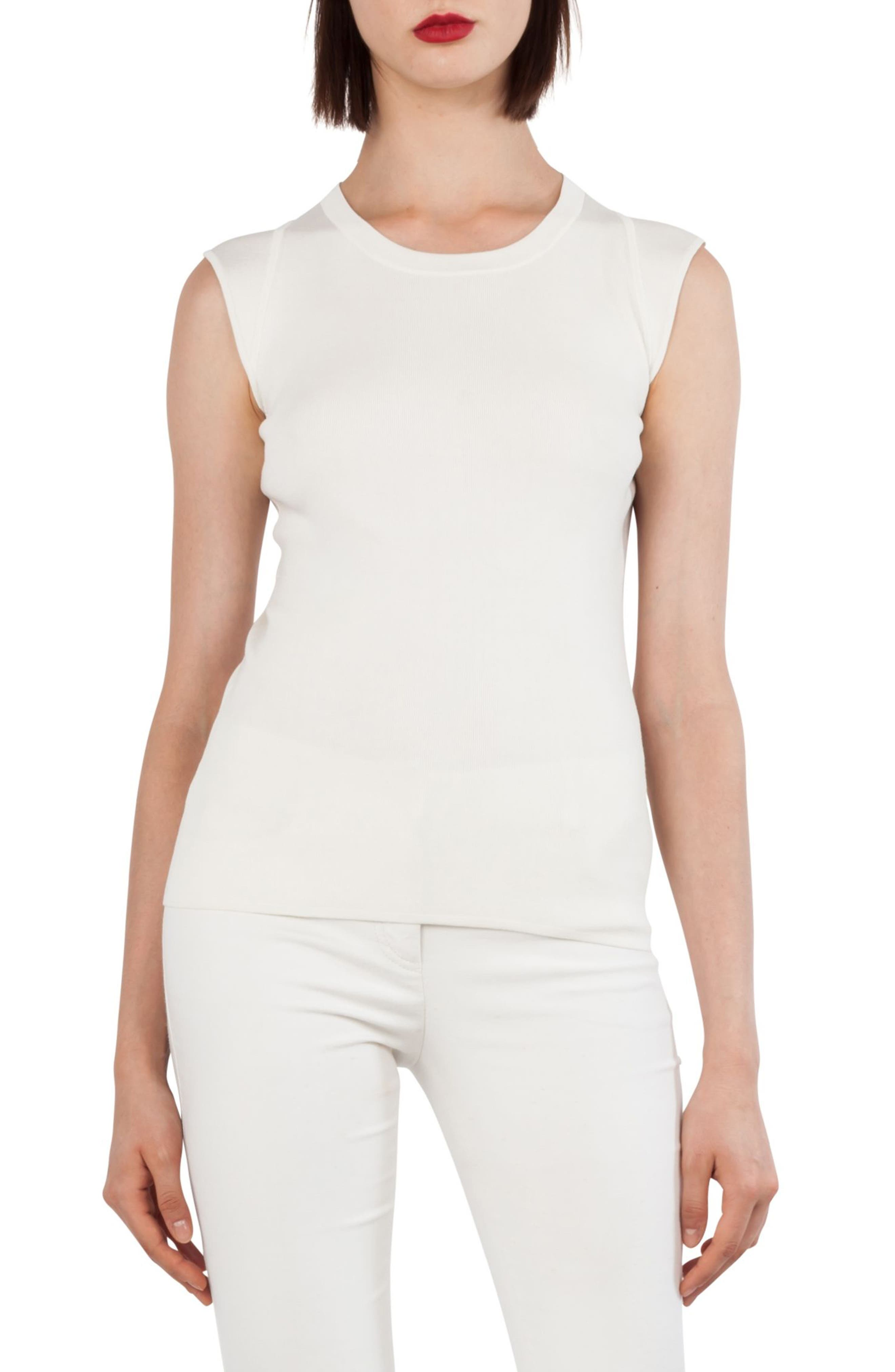Akris Knit Stretch Silk Top