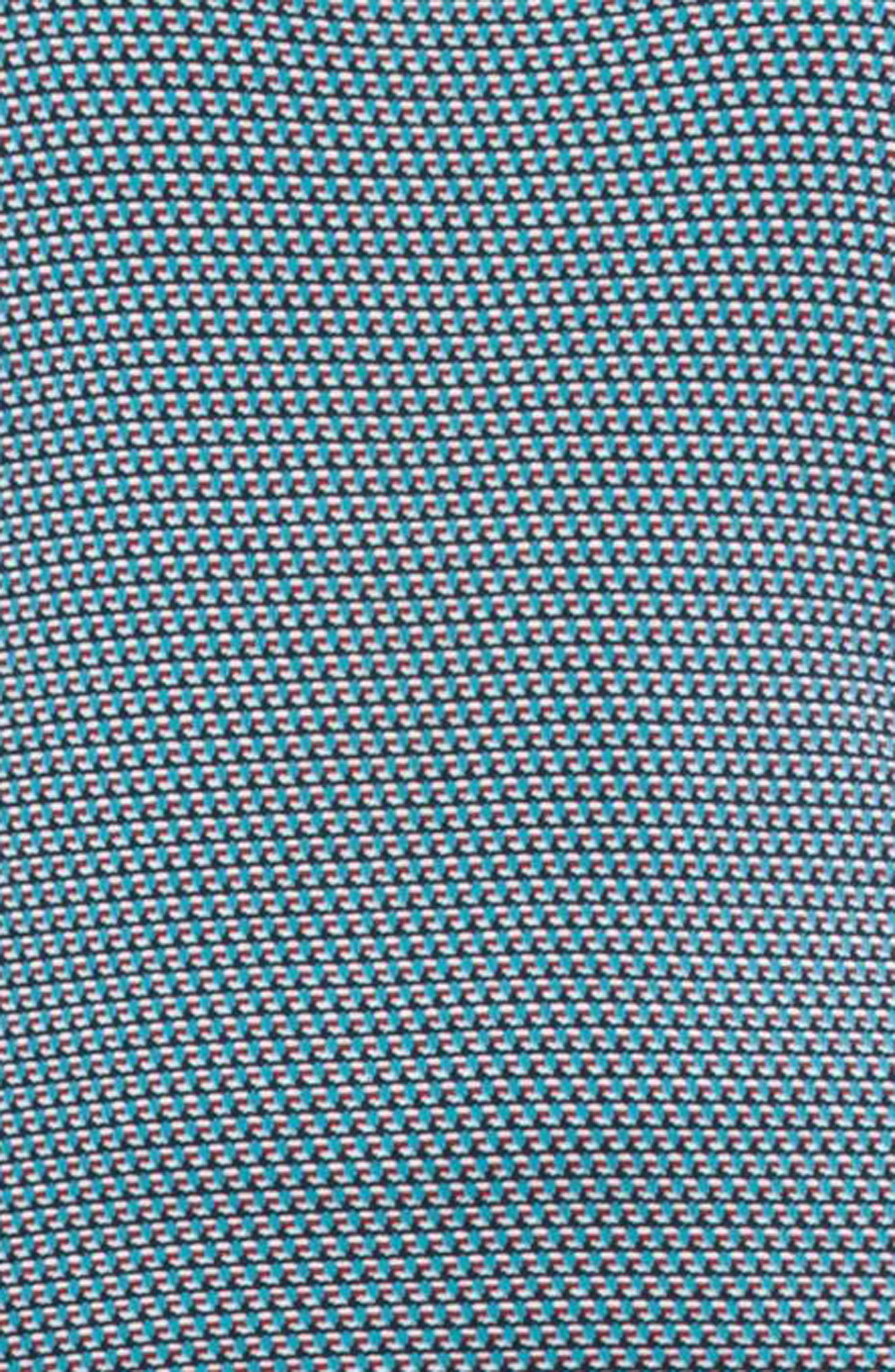 Fantasy Jacquard Knit Top,                             Alternate thumbnail 3, color,                             Turquoise Multi