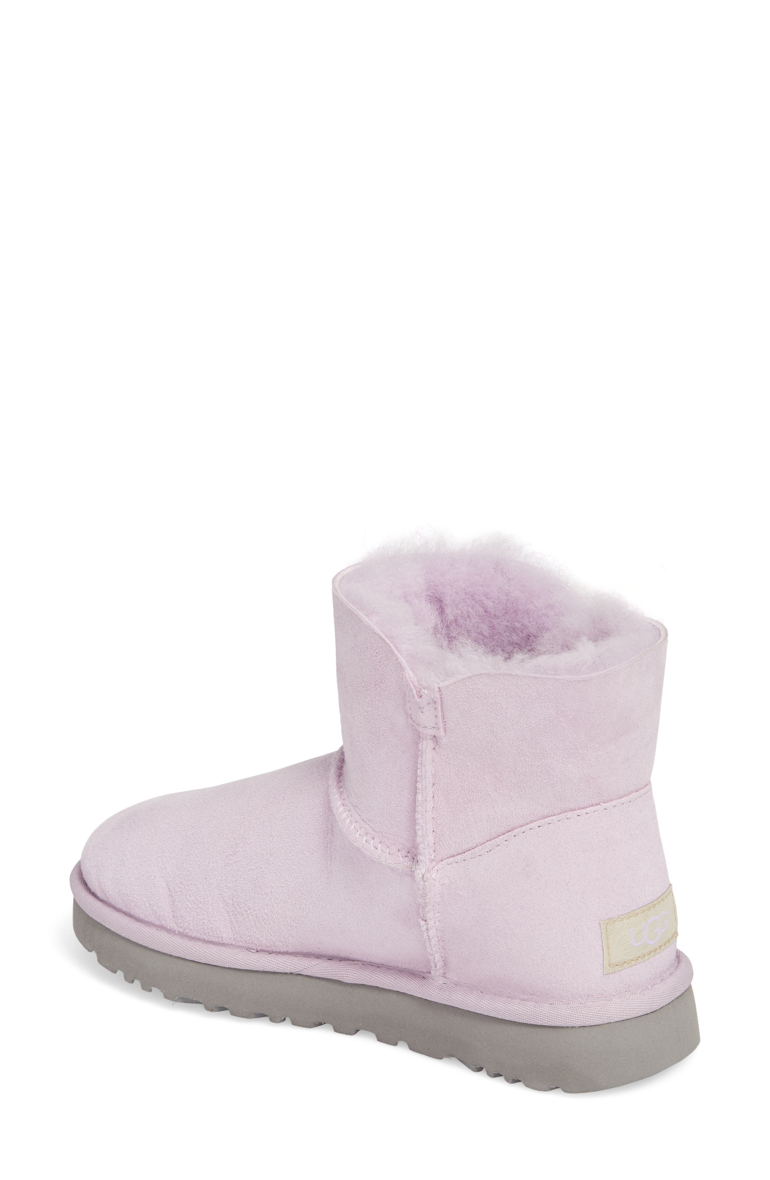 Mini Bailey Button Poppy Genuine Shearling Lined Boot,                             Alternate thumbnail 2, color,                             Lavender Fog