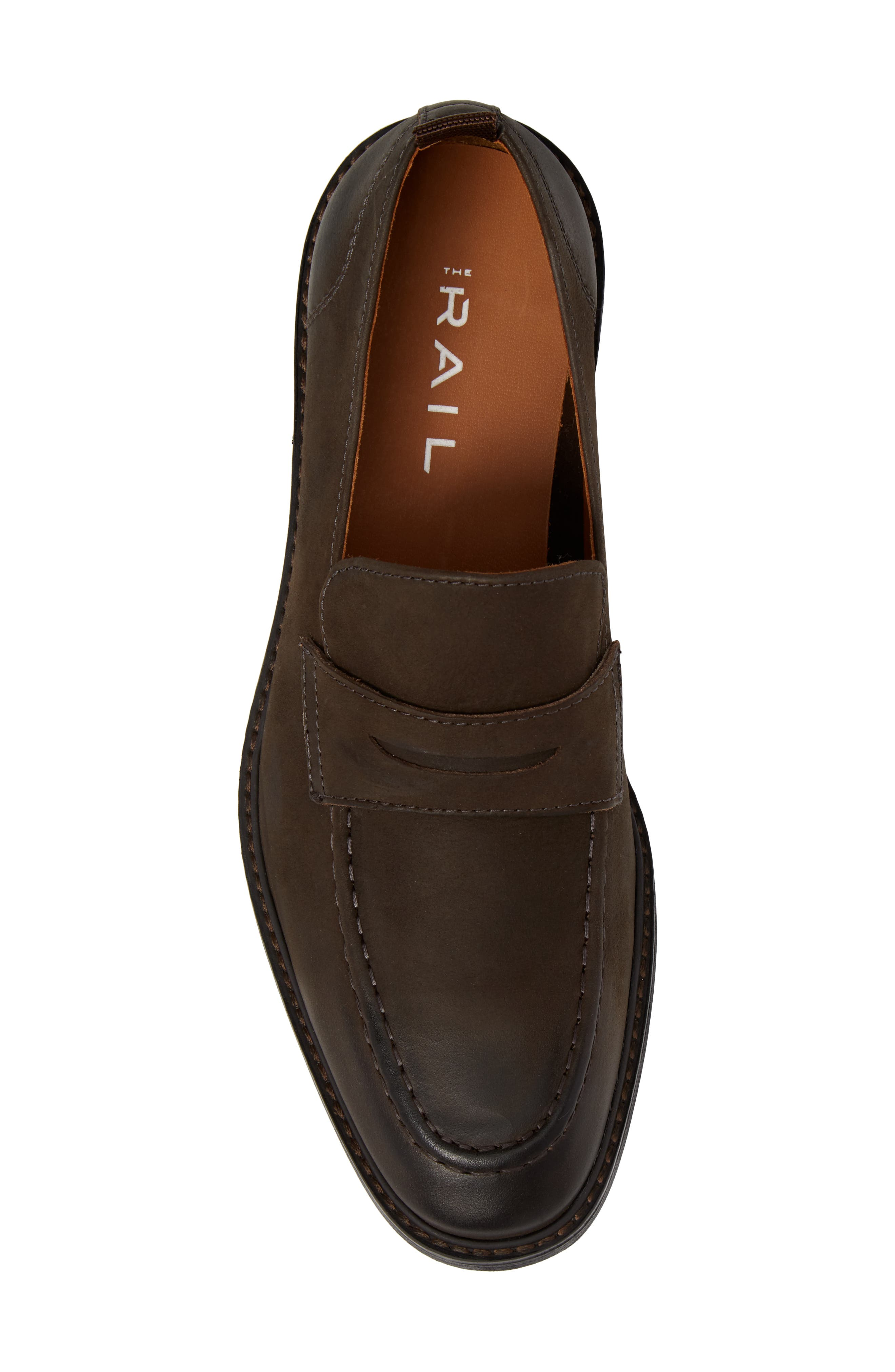 Harrington Penny Loafer,                             Alternate thumbnail 5, color,                             Chocolate Leather