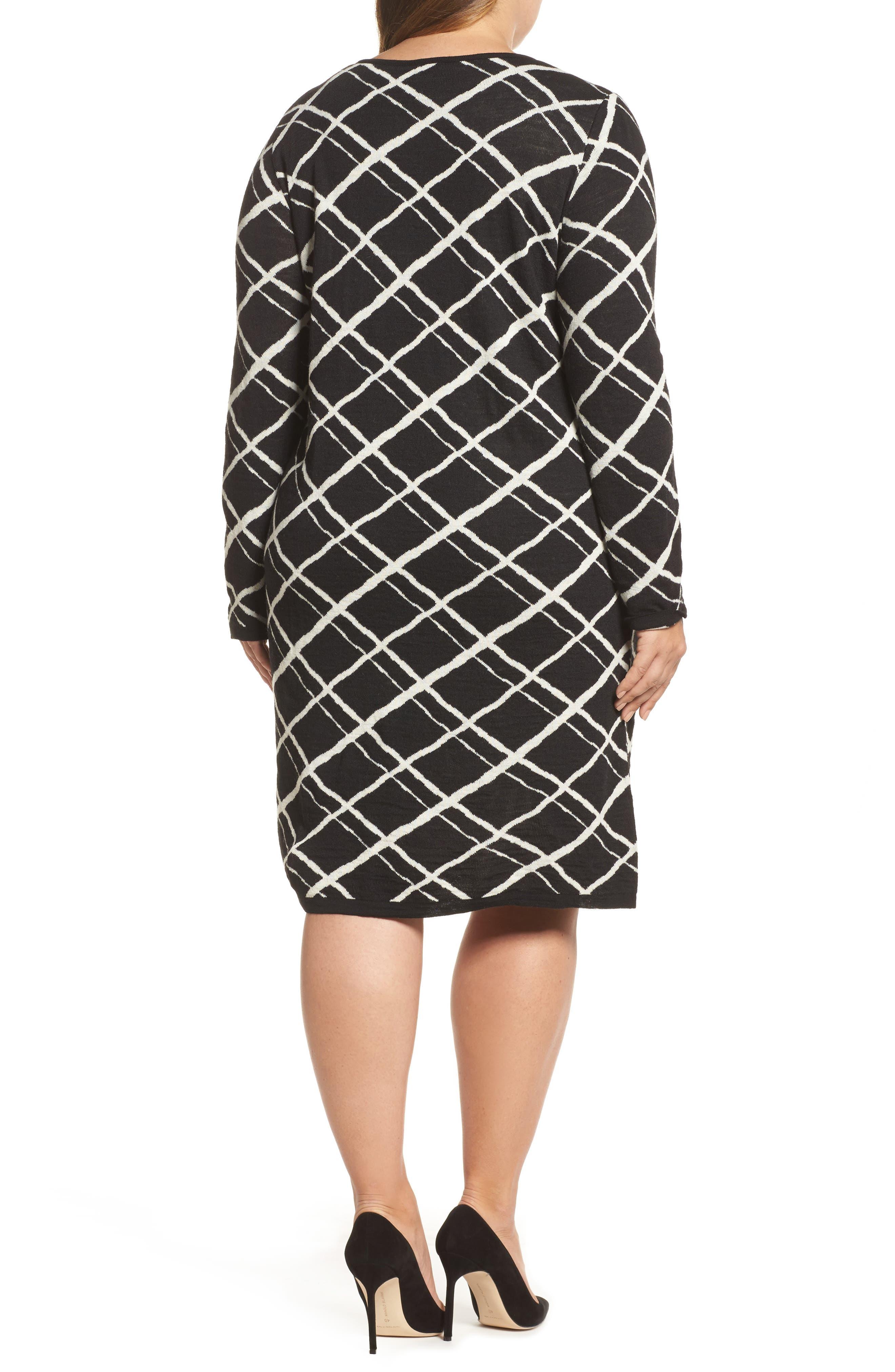 Alternate Image 2  - Persona by Marina Rinaldi Genesi Checkered Knit Dress (Plus Size)