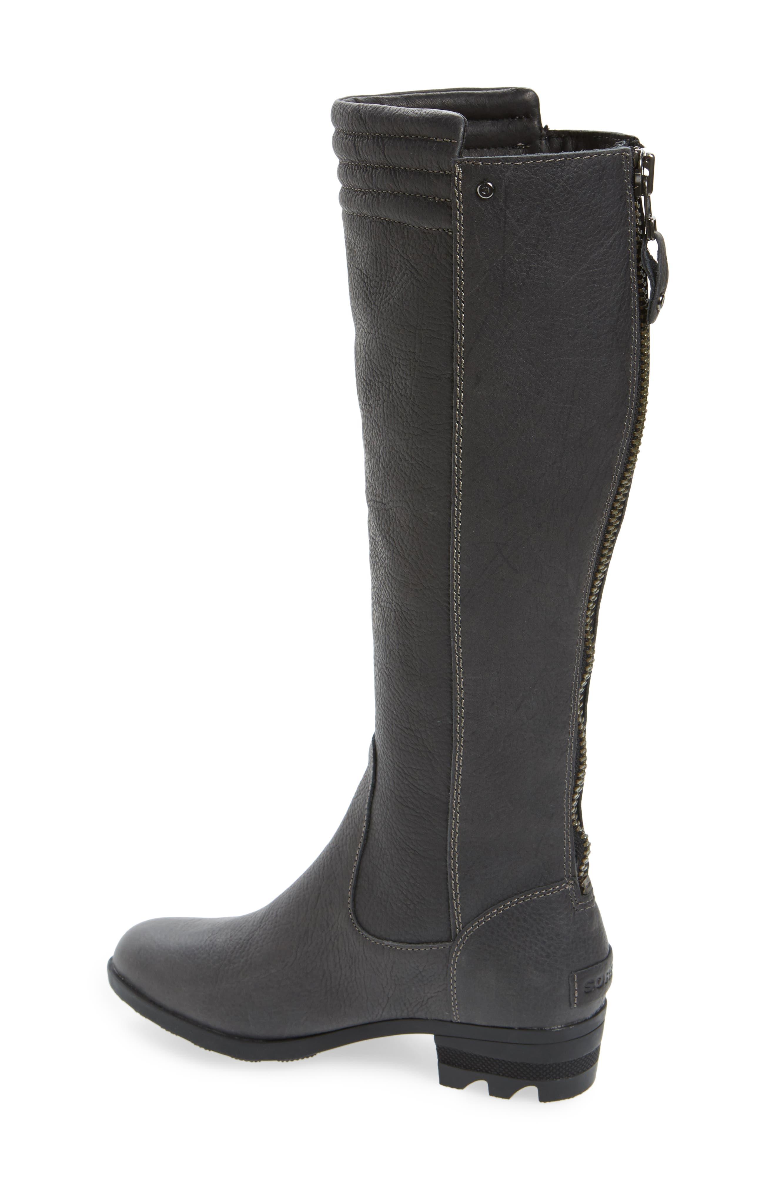 Danica Waterproof Knee High Boot,                             Alternate thumbnail 2, color,                             Quarry/ Black