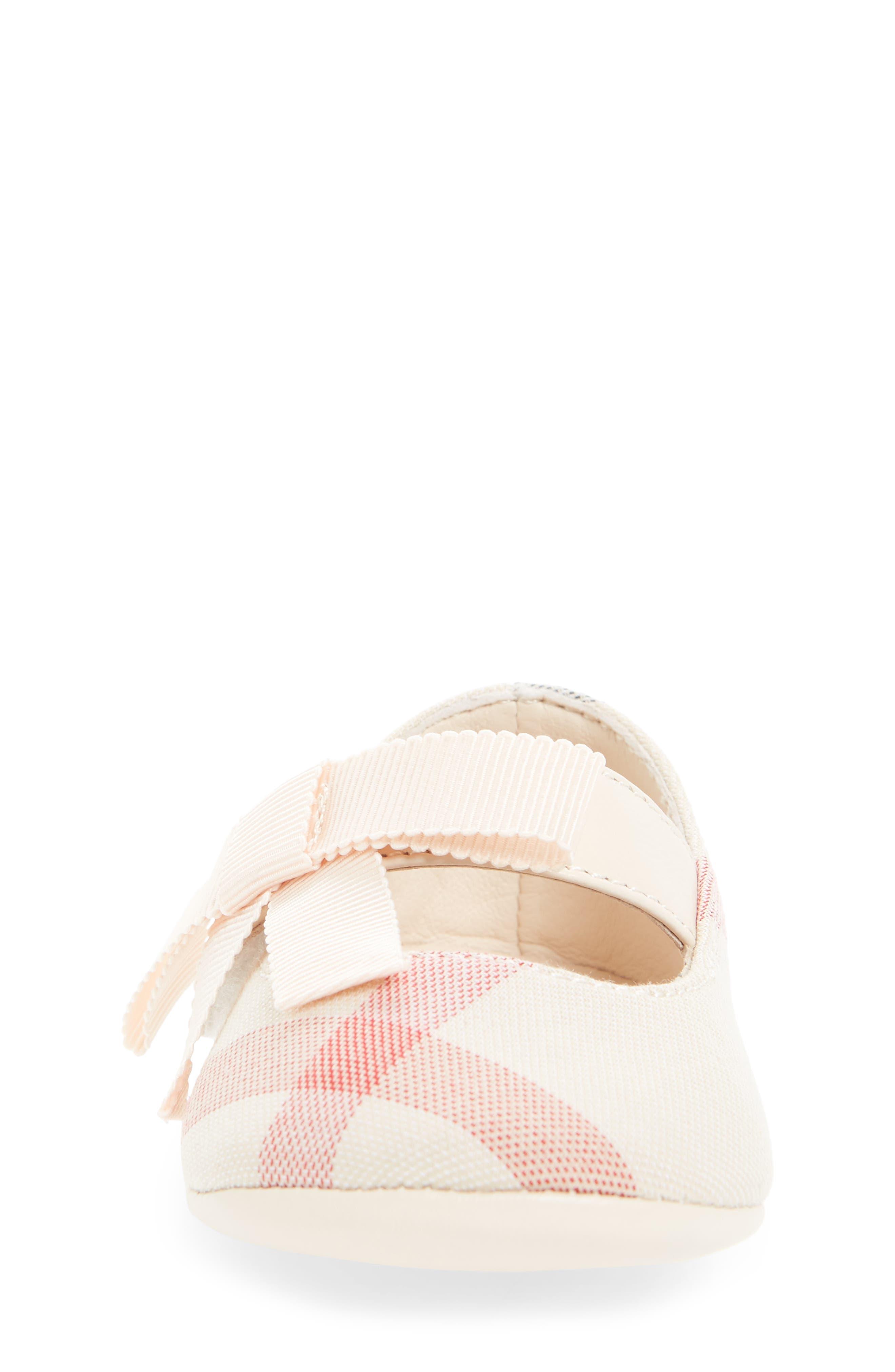 Alternate Image 4  - Burberry Stark Mary Jane Crib Shoe (Baby)
