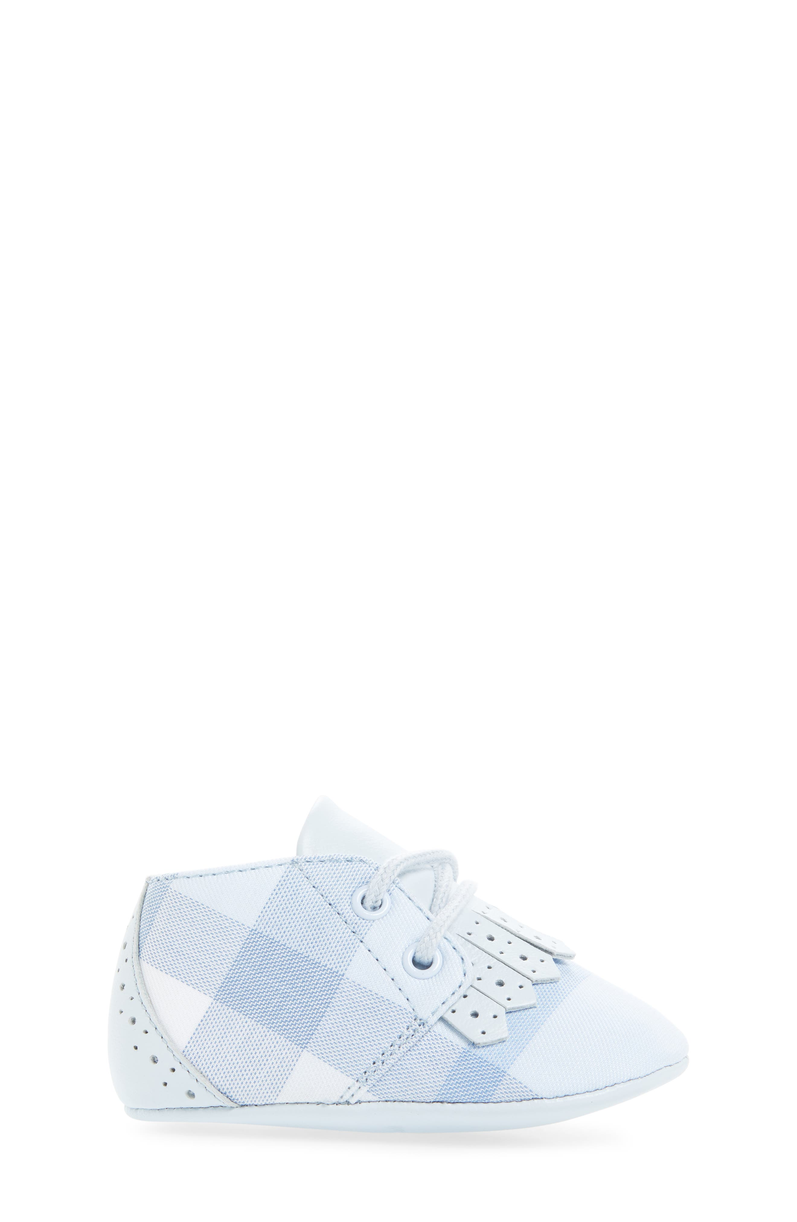 Alternate Image 3  - Burberry Tom Lace-Up Crib Shoe (Baby)