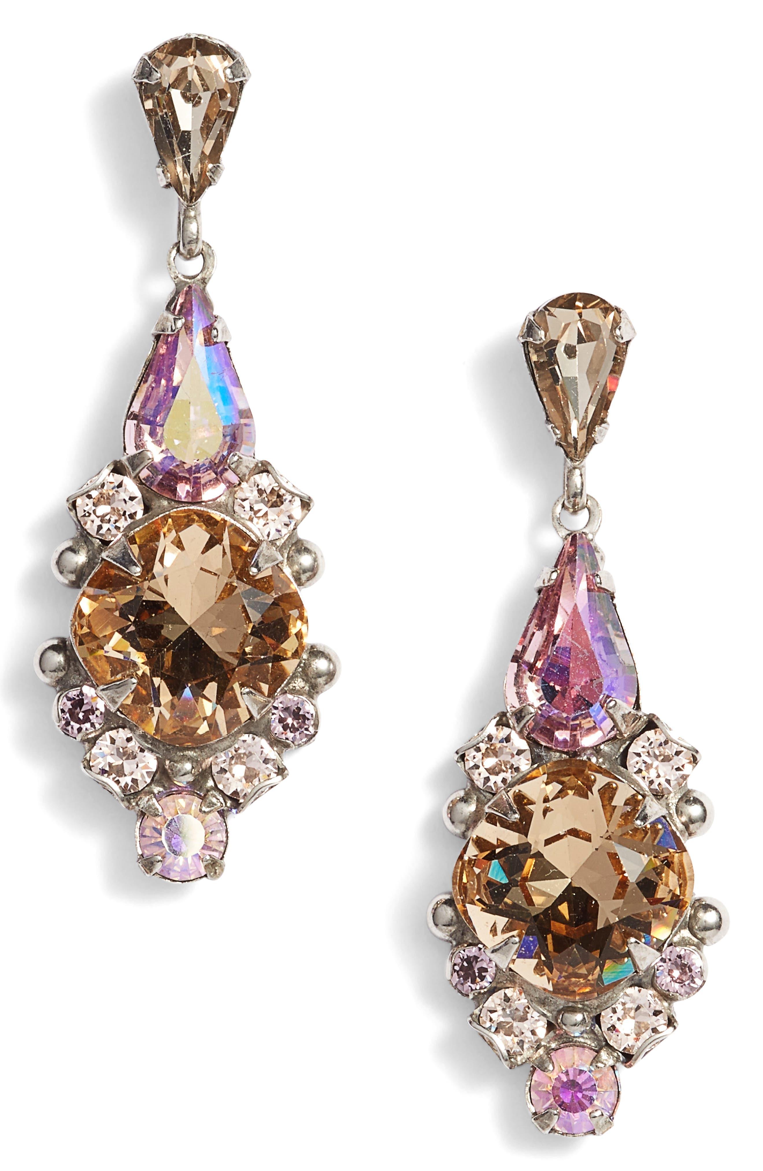 Alternate Image 1 Selected - Sorrelli Alyssum Crystal Drop Earrings
