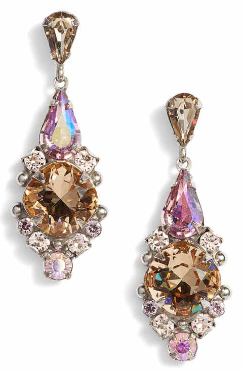 Womens chandelier earrings nordstrom sorrelli alyssum crystal drop earrings mozeypictures Images
