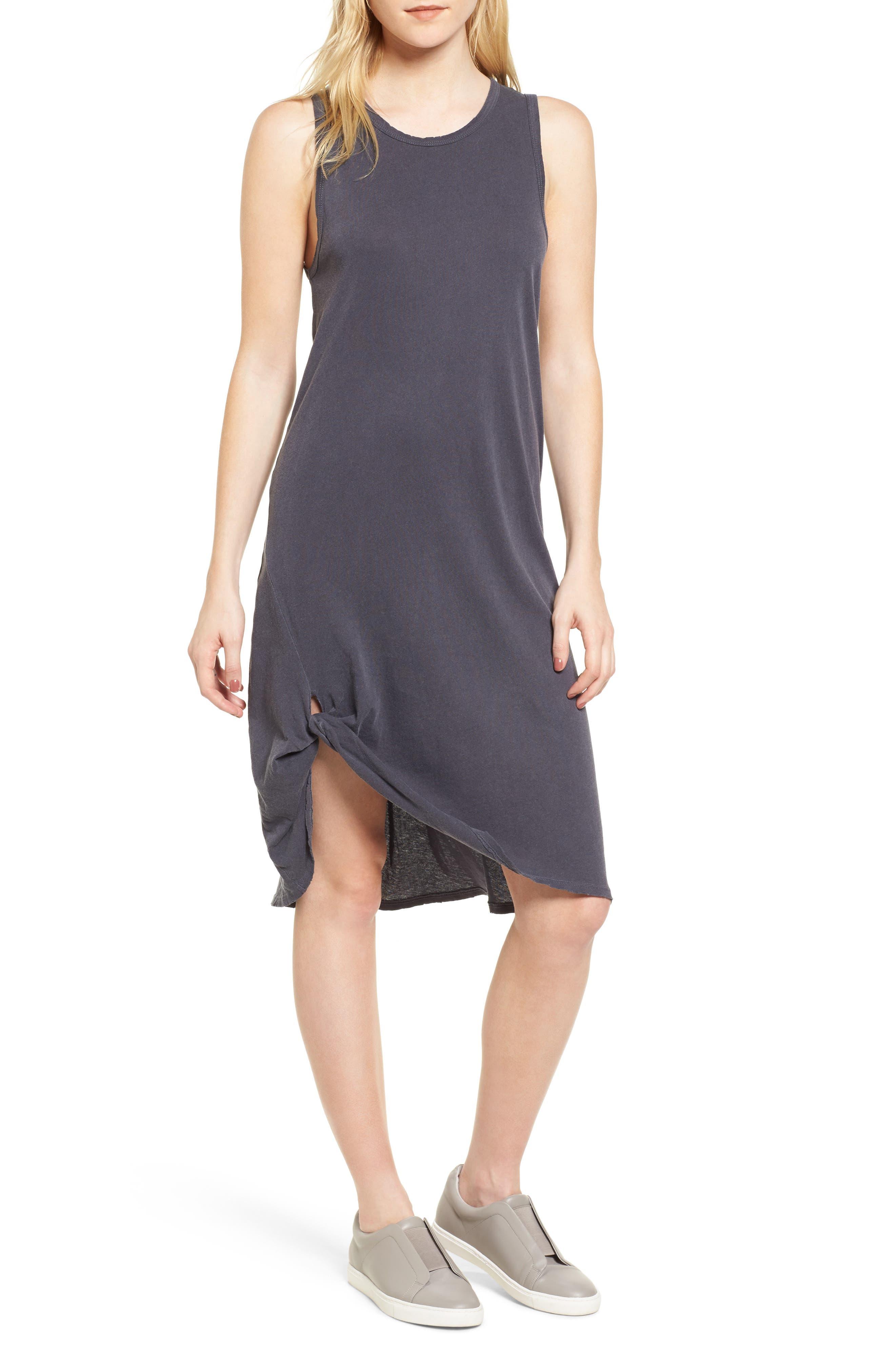 Boo Jersey Tank Dress,                         Main,                         color, Asphalt
