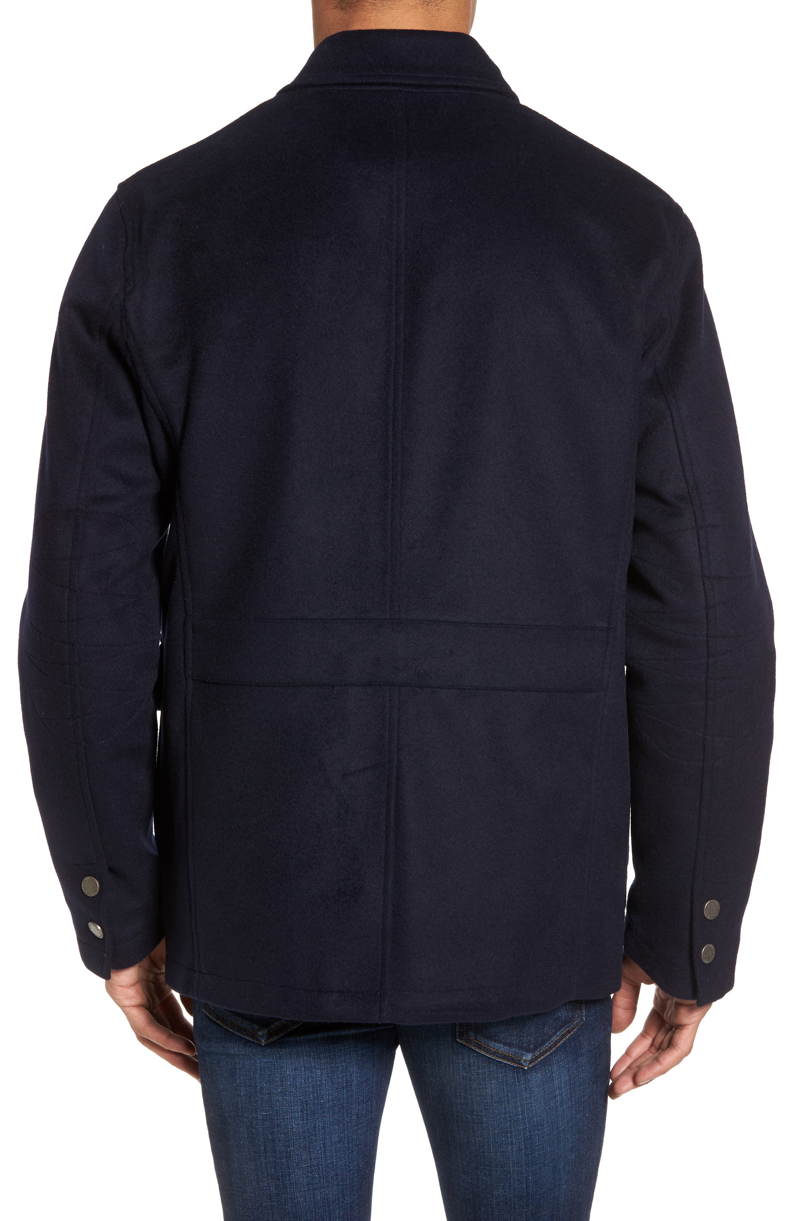 Wool Hybrid Blazer,                             Alternate thumbnail 2, color,                             Navy