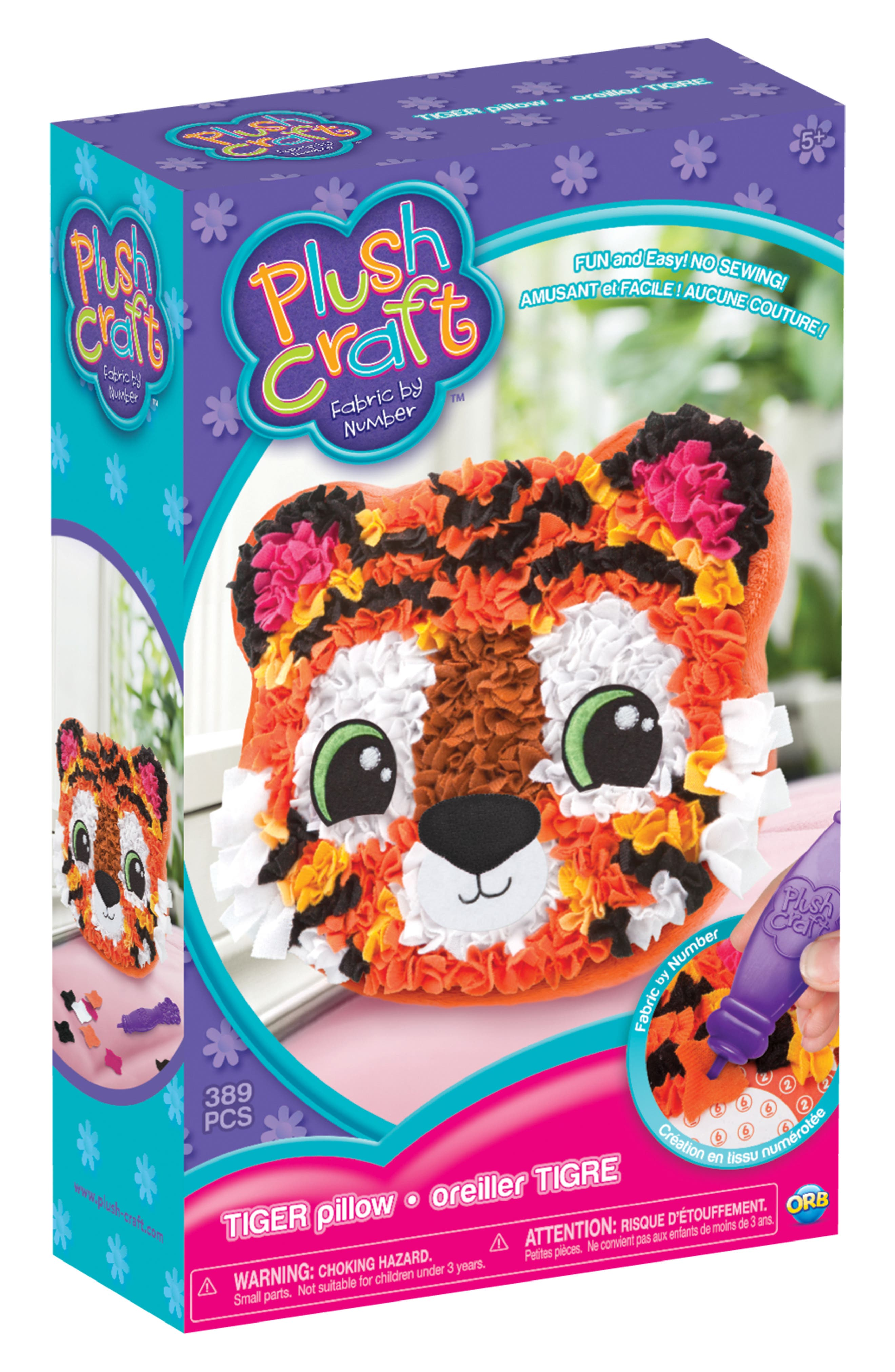 ORB™ PlushCraft Tiger Pillow Craft Kit