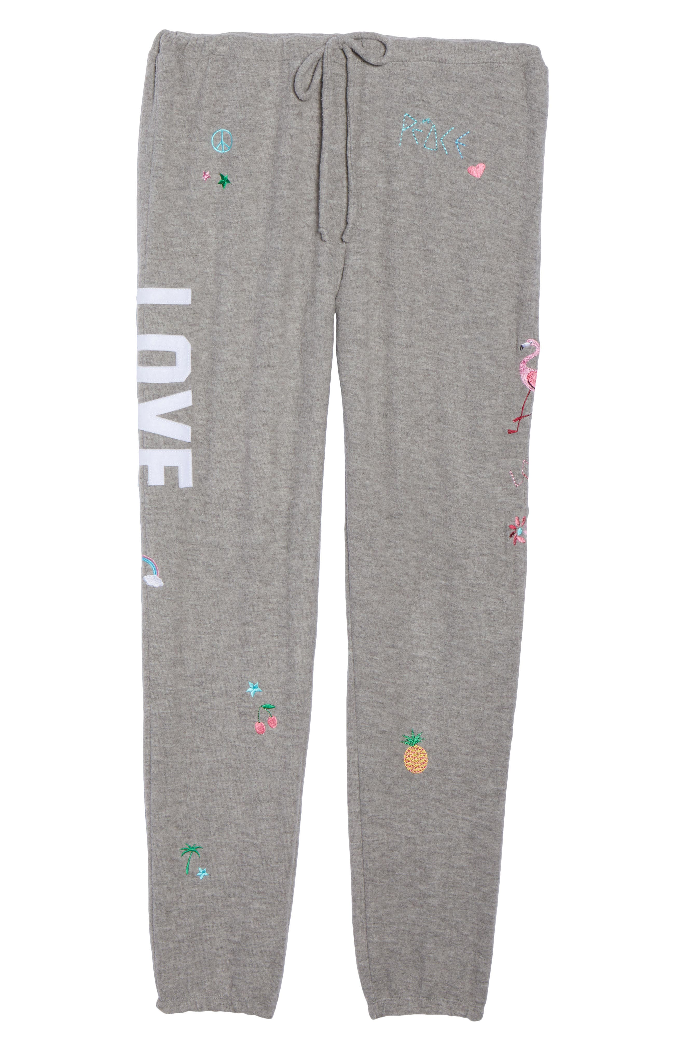 Patched Up Lounge Sweatpants,                             Alternate thumbnail 7, color,                             Heather Grey
