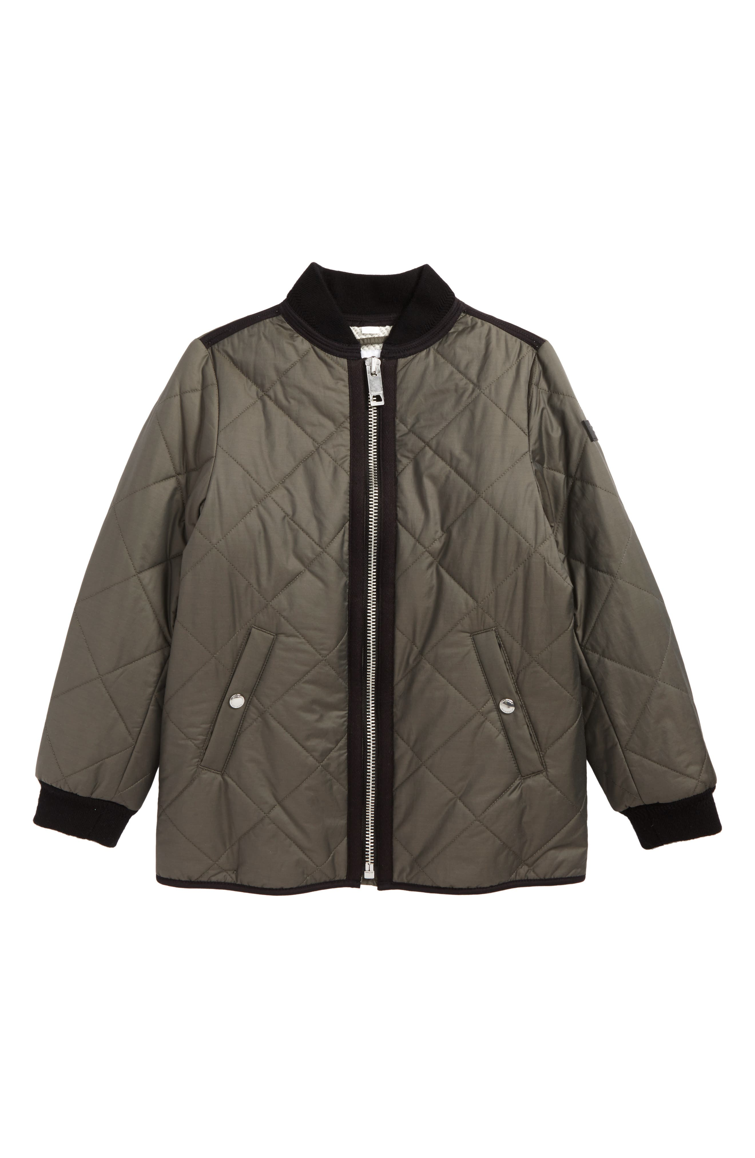 Ila Quilted Jacket,                         Main,                         color, Olive