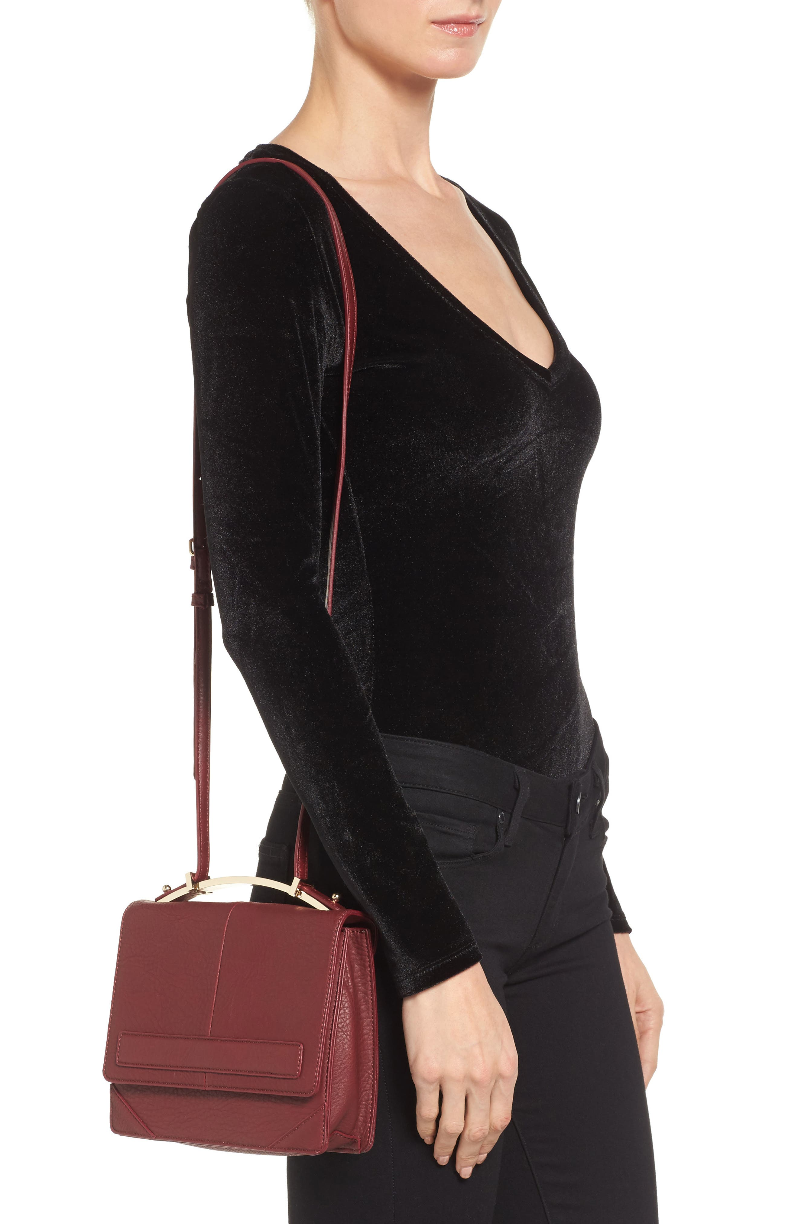 Alternate Image 2  - Sole Society Krista Faux Leather Crossbody Bag