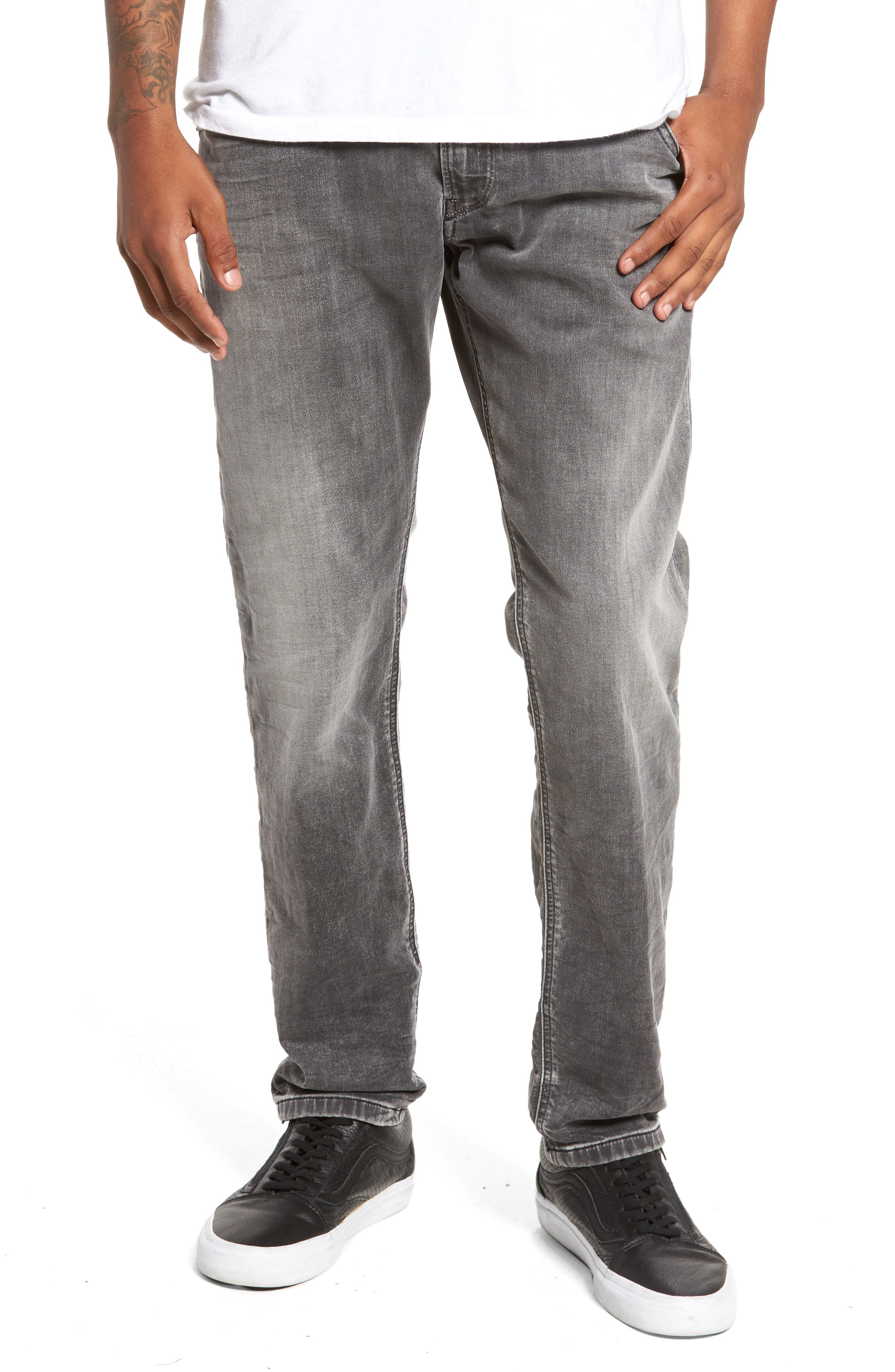 Alternate Image 1 Selected - DIESEL® Krooley Slouchy Skinny Fit Jeans (0855B)