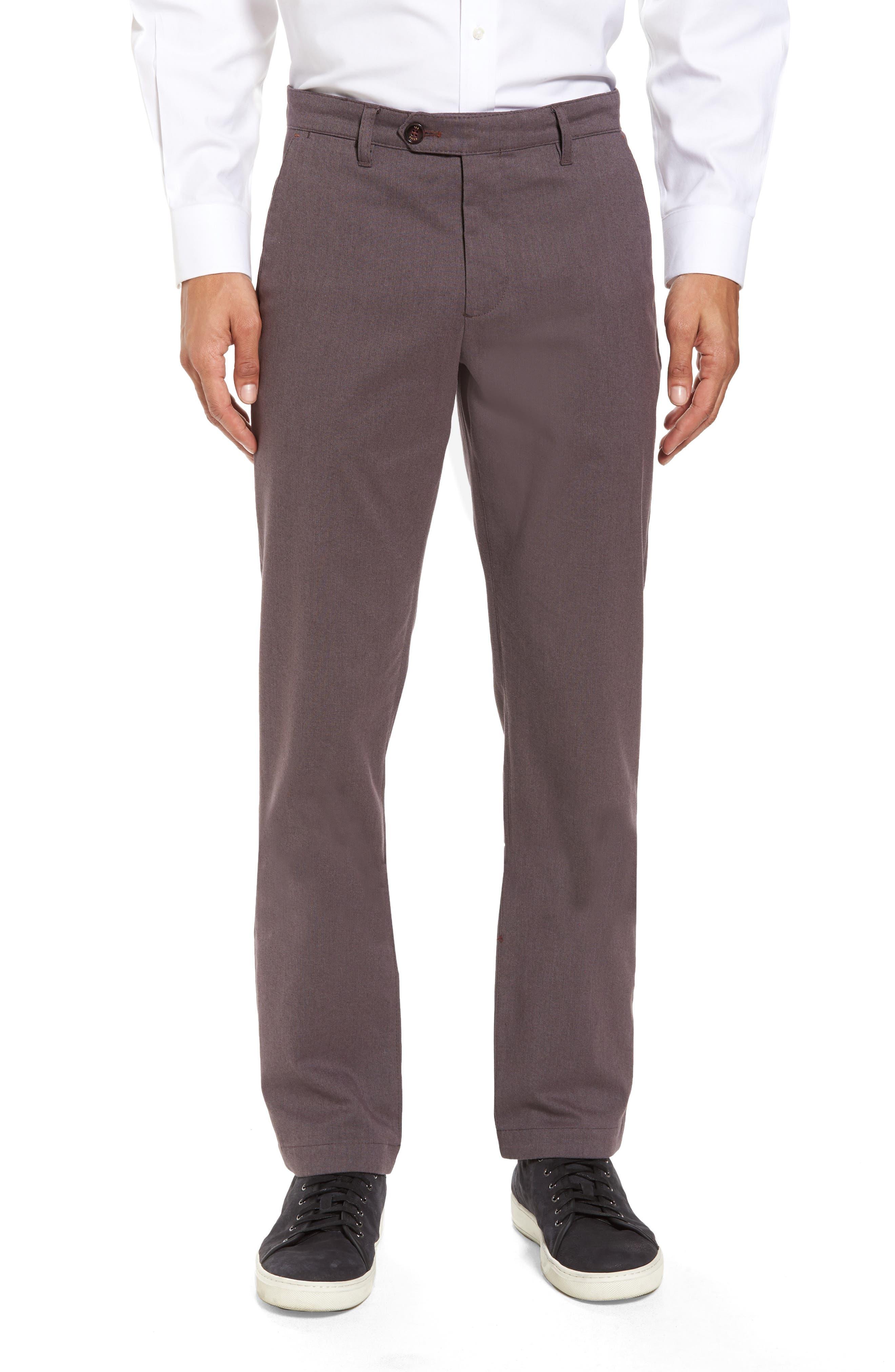 Ted Baker London Freshman Modern Fit Brushed Pants