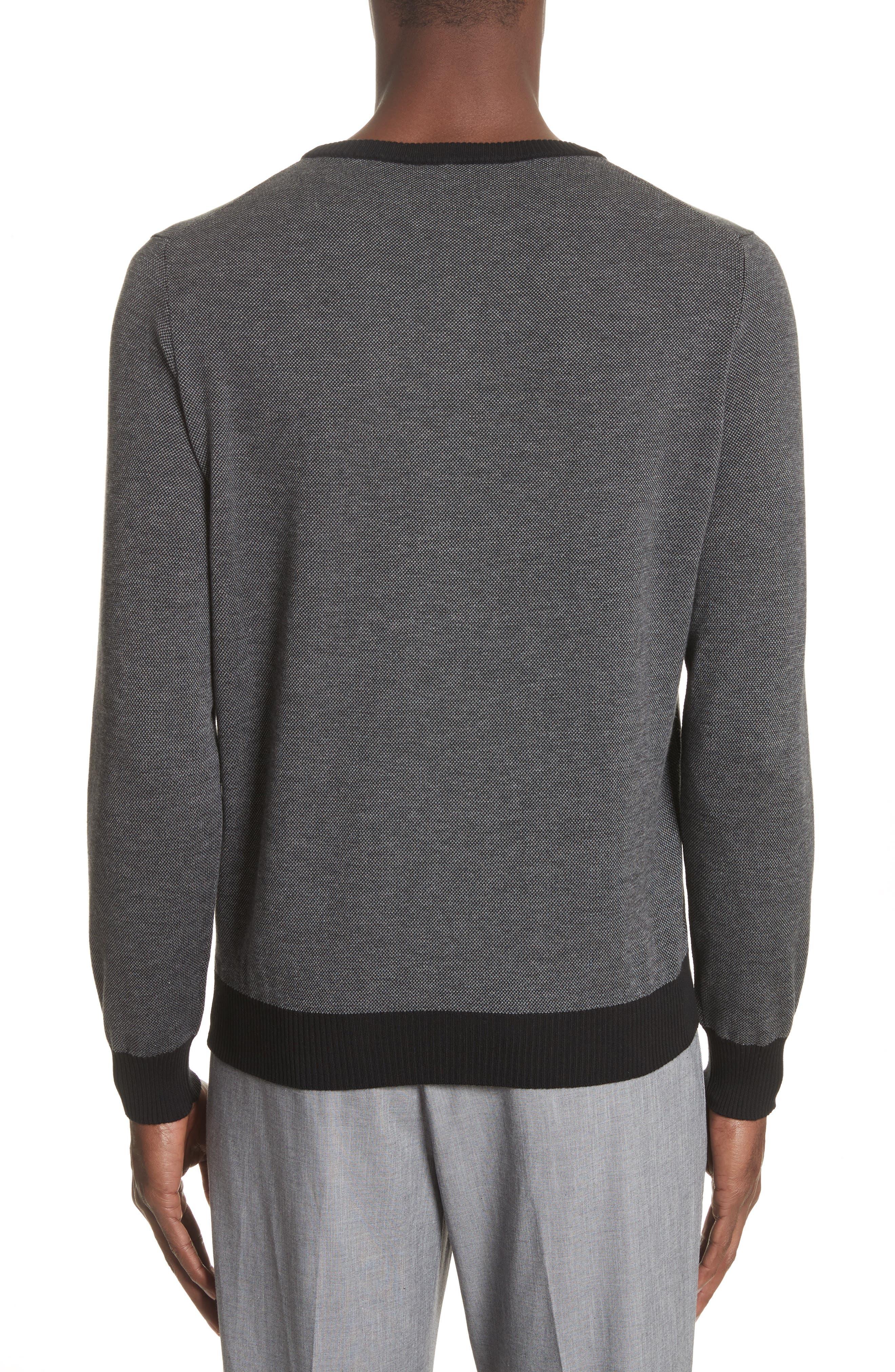 Textured Cotton Sweatshirt,                             Alternate thumbnail 2, color,                             Charcoal