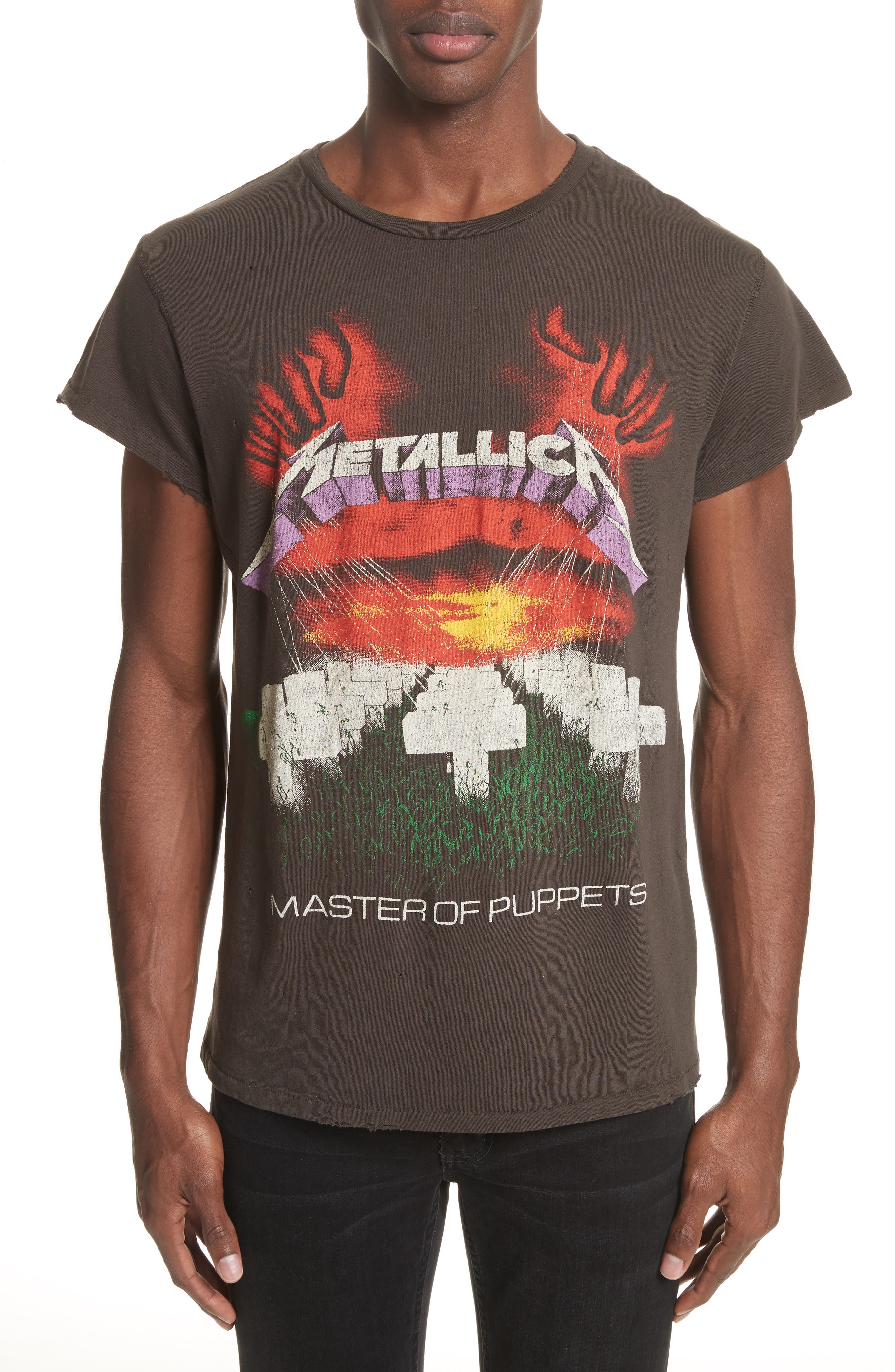 Metallica Master of Puppets Graphic T-Shirt,                             Main thumbnail 1, color,                             Dirty Black
