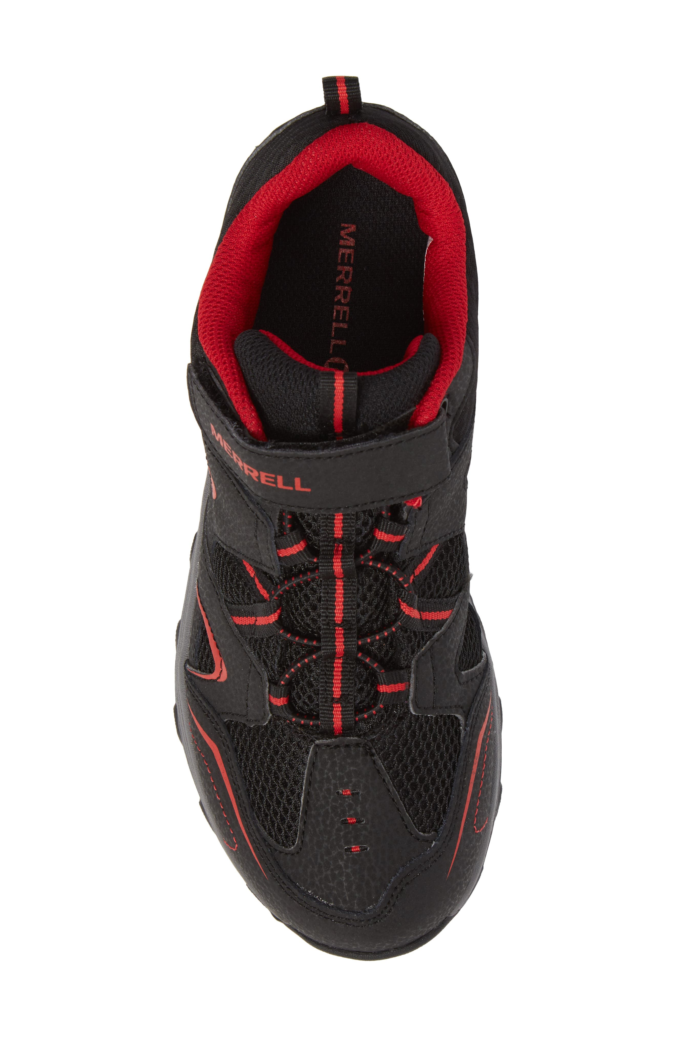 Trail Chaser Sneaker,                             Alternate thumbnail 5, color,                             Black/ Red