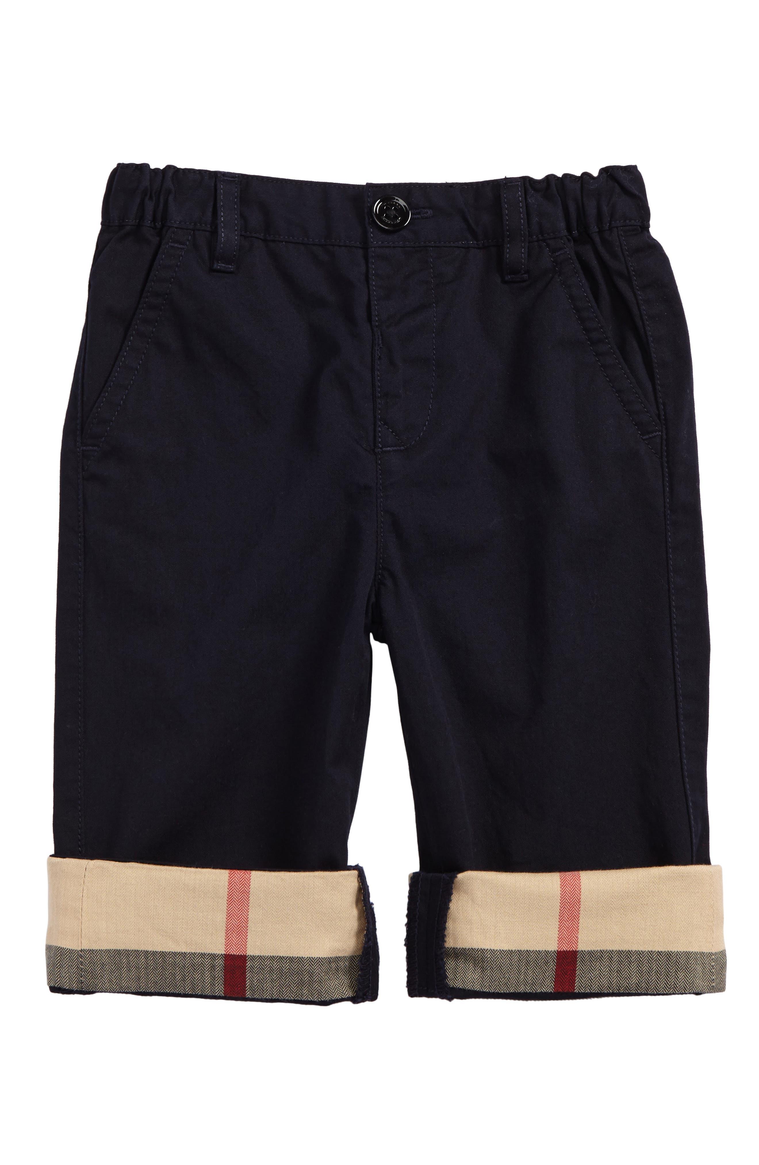 Ricky Check Cuff Chino Pants,                         Main,                         color, Ink