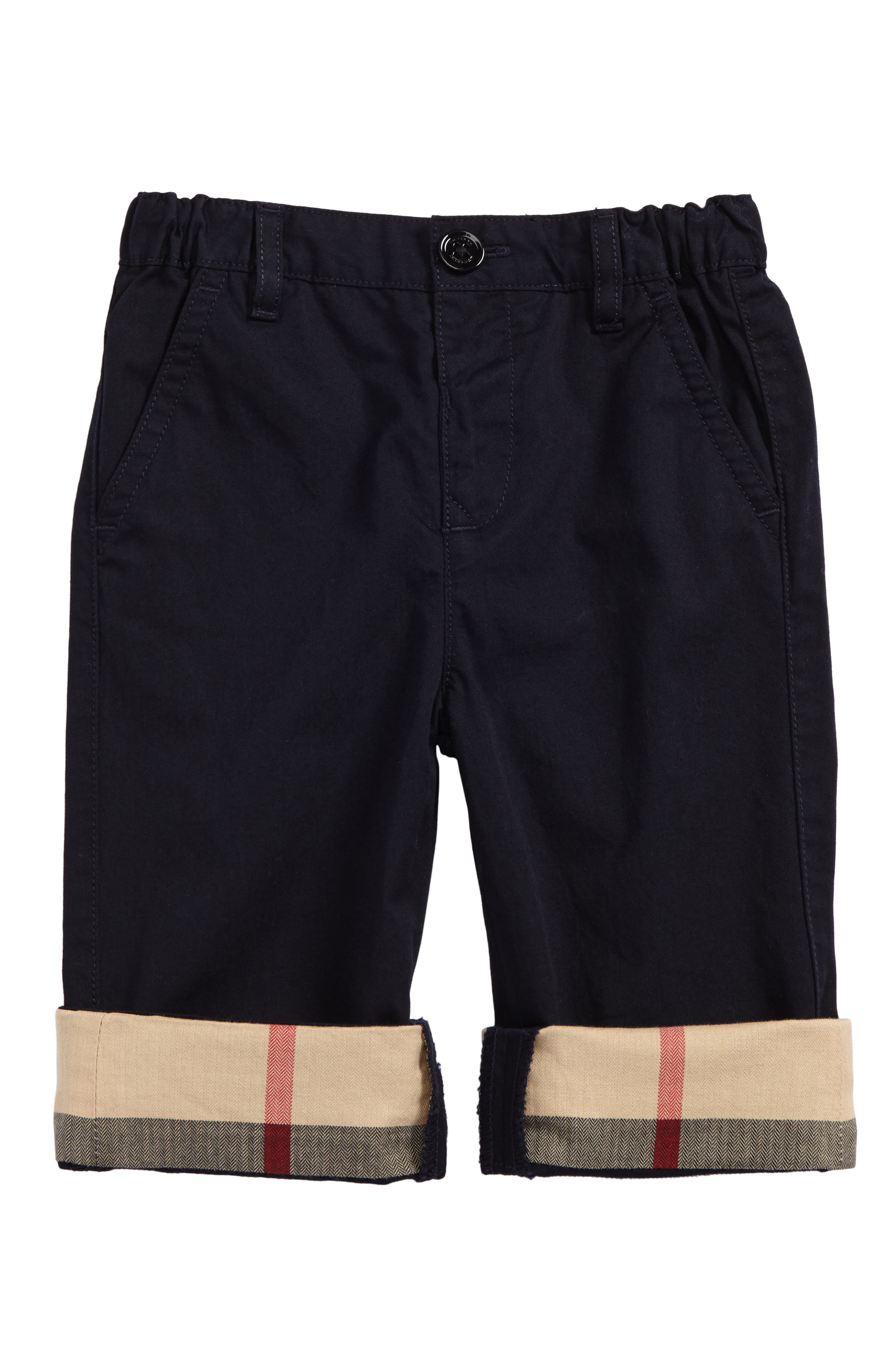 Burberry Ricky Check Cuff Chino Pants (Baby Boys)