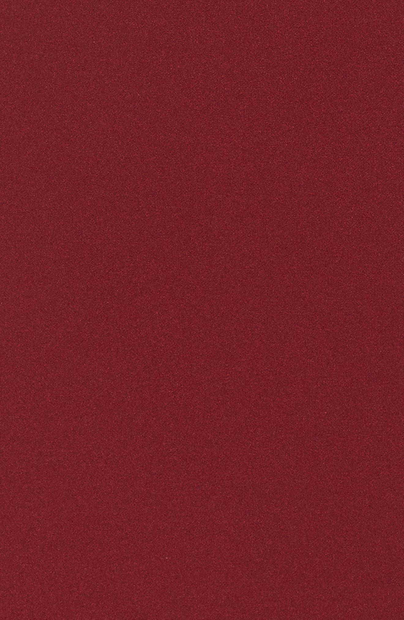 Ruffle Back Scuba Gown,                             Alternate thumbnail 5, color,                             Merlot