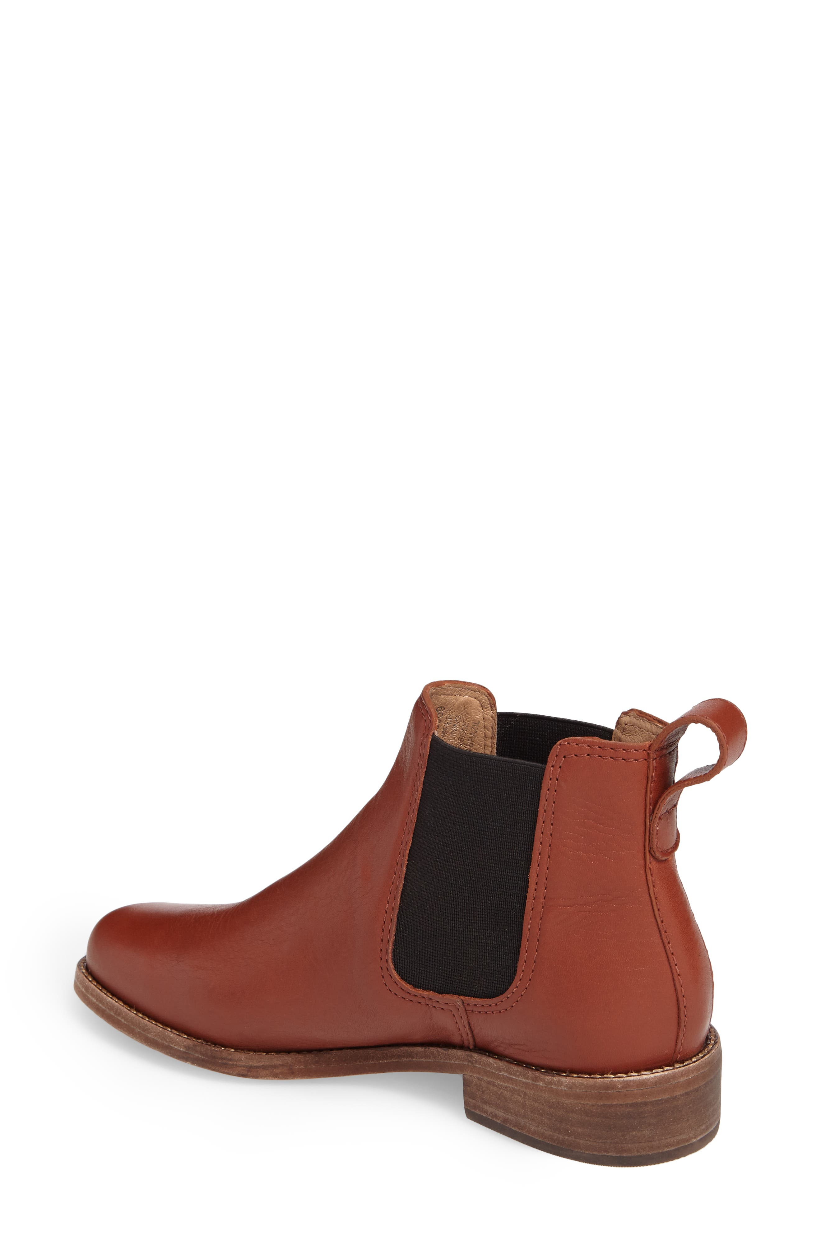Ainsley Chelsea Boot,                             Alternate thumbnail 2, color,                             Vintage Redwood Leather
