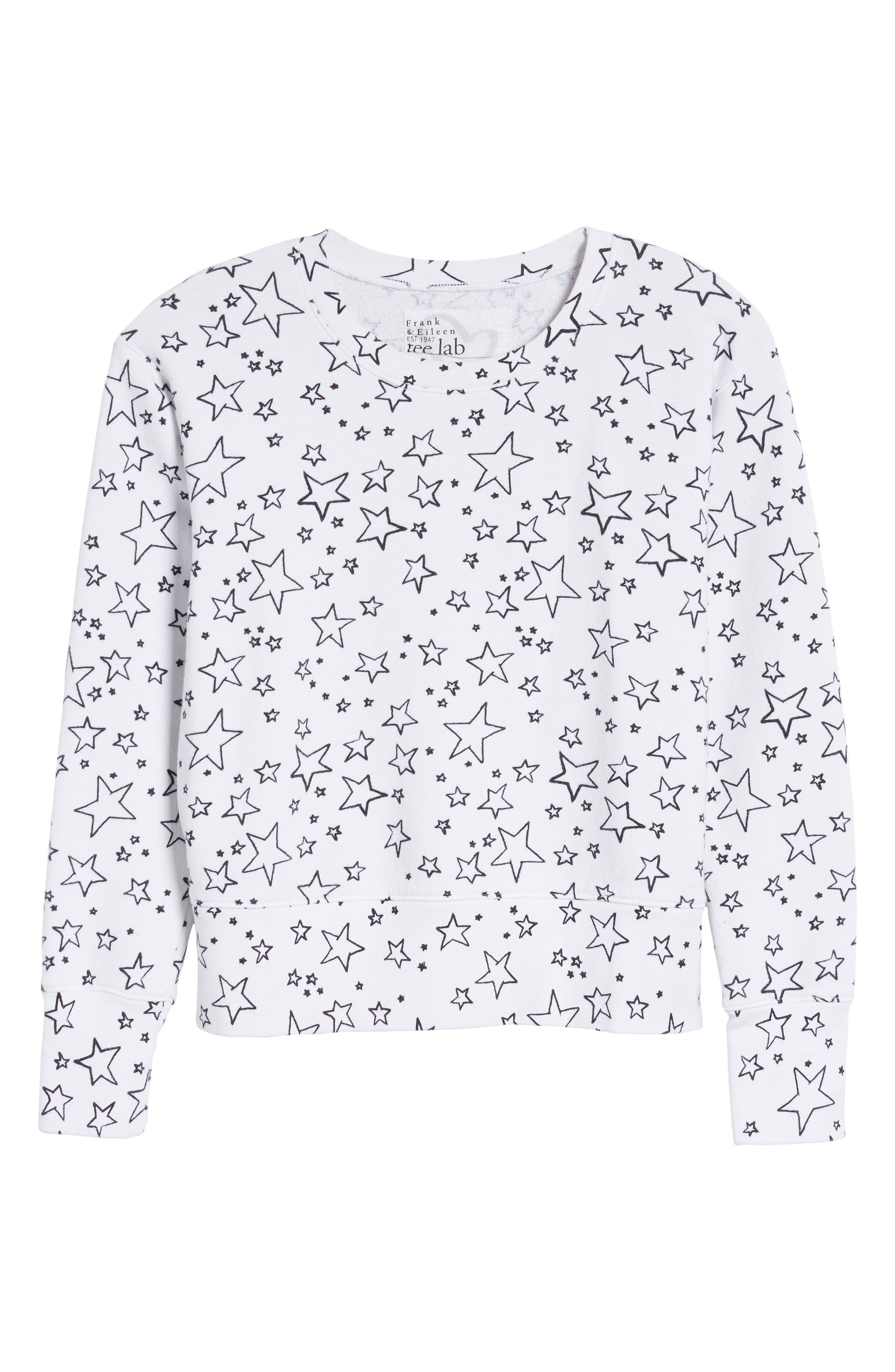 Frank & Eileen Star Sweatshirt,                             Alternate thumbnail 6, color,                             Lucky Star Day