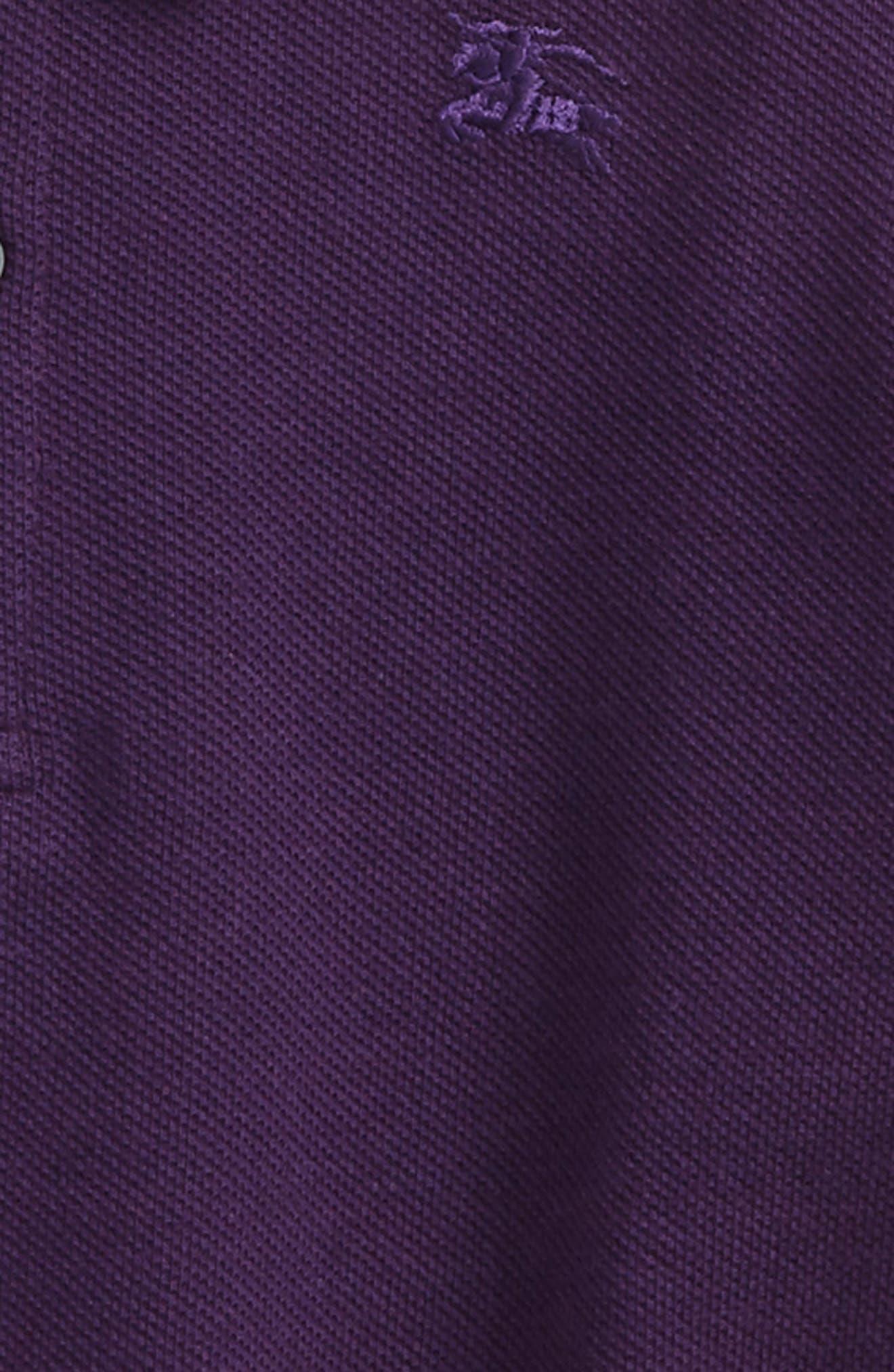 Palmer Piqué Polo,                             Alternate thumbnail 2, color,                             Purple Grape