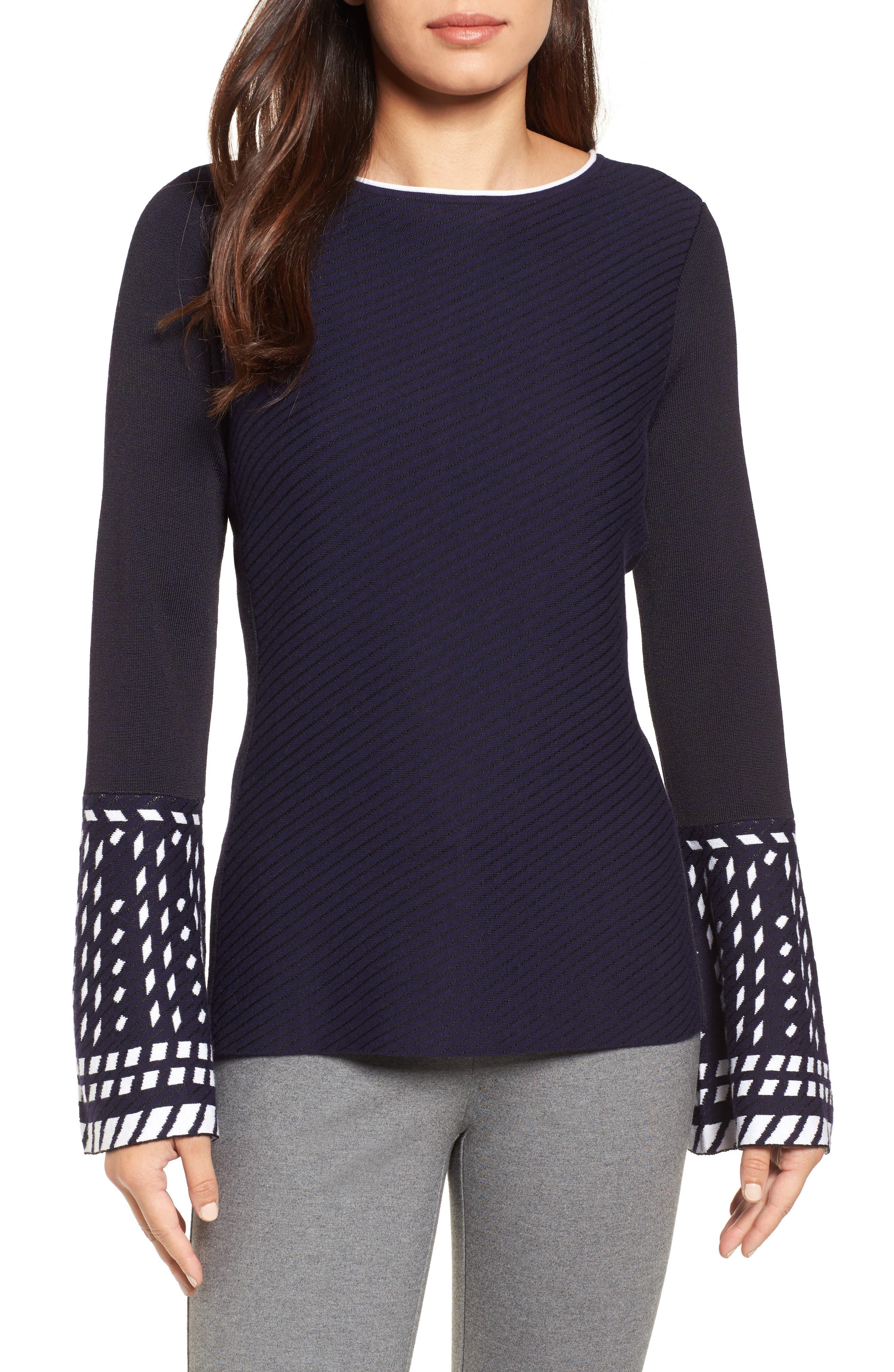 Alternate Image 1 Selected - NIC+ZOE Falling Star Sweater (Regular & Petite)