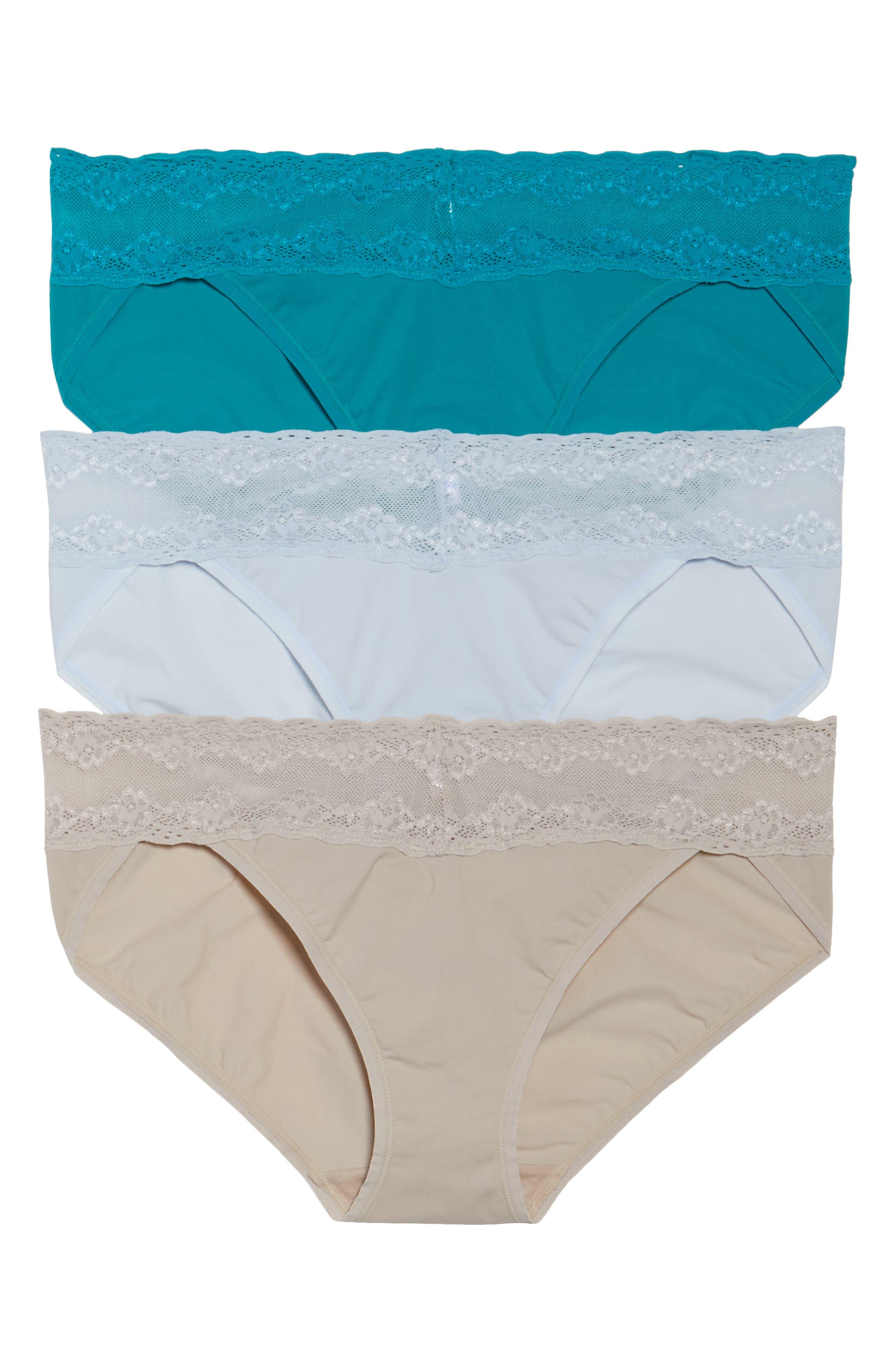 Alternate Image 1 Selected - Natori 'Bliss Perfection' Bikini Briefs (3-Pack)