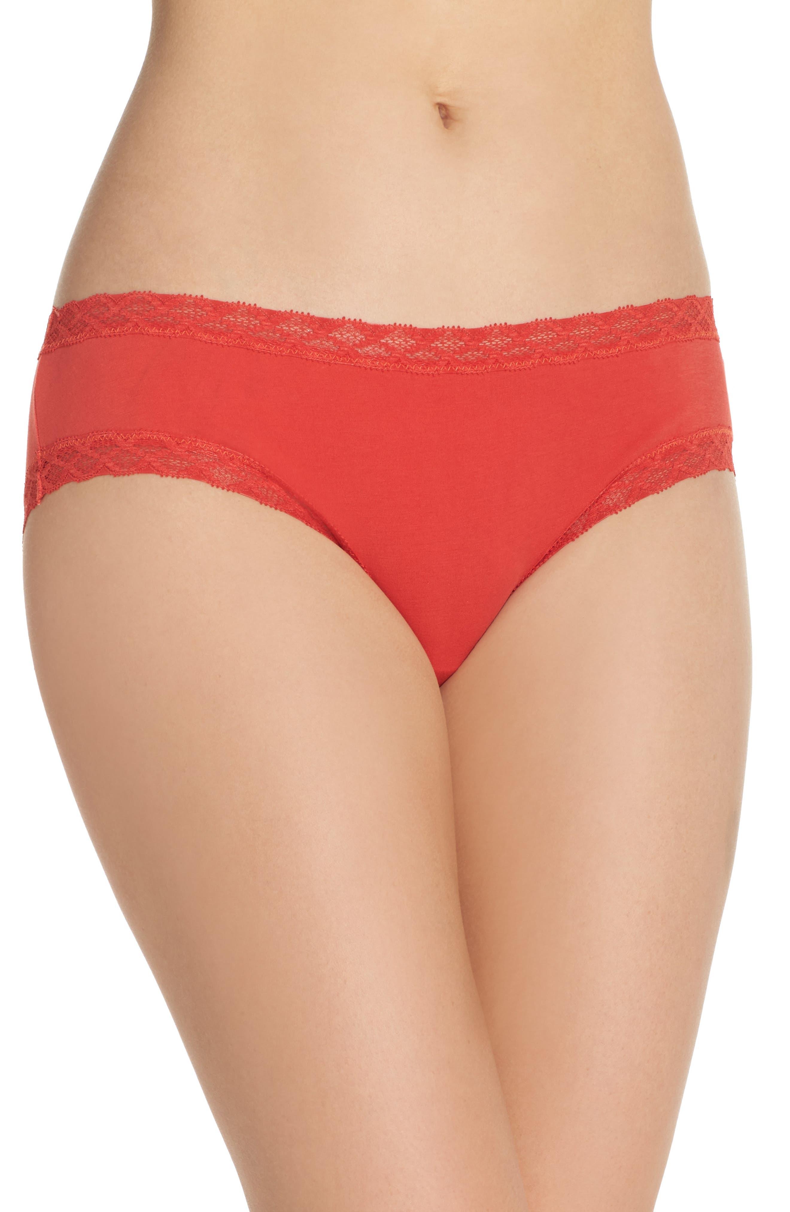 Alternate Image 1 Selected - Natori Bliss Cotton Girl Briefs (3 for $45)