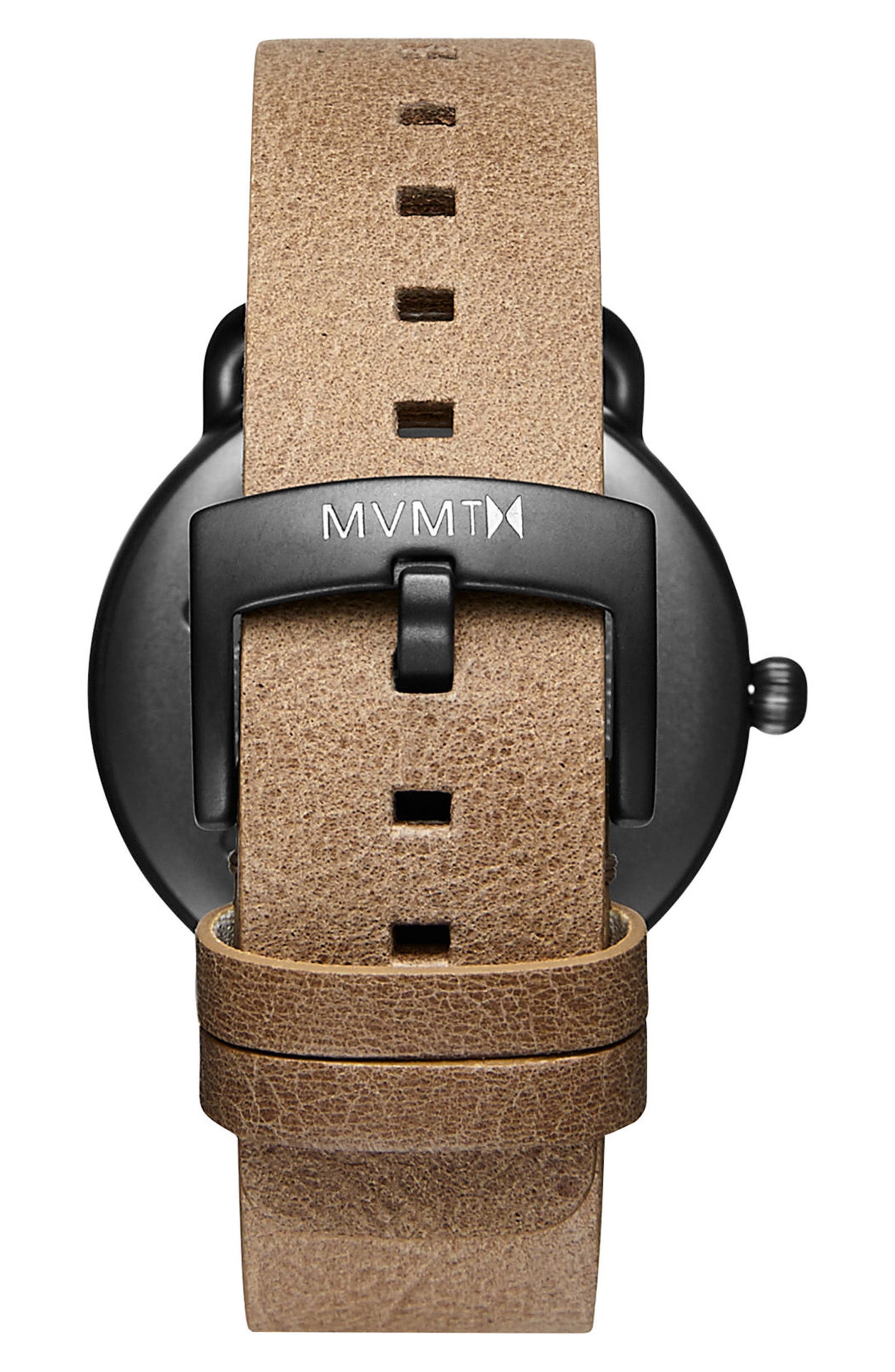 Alternate Image 2  - MVMT Revolver Vice Leather Strap Watch, 41mm