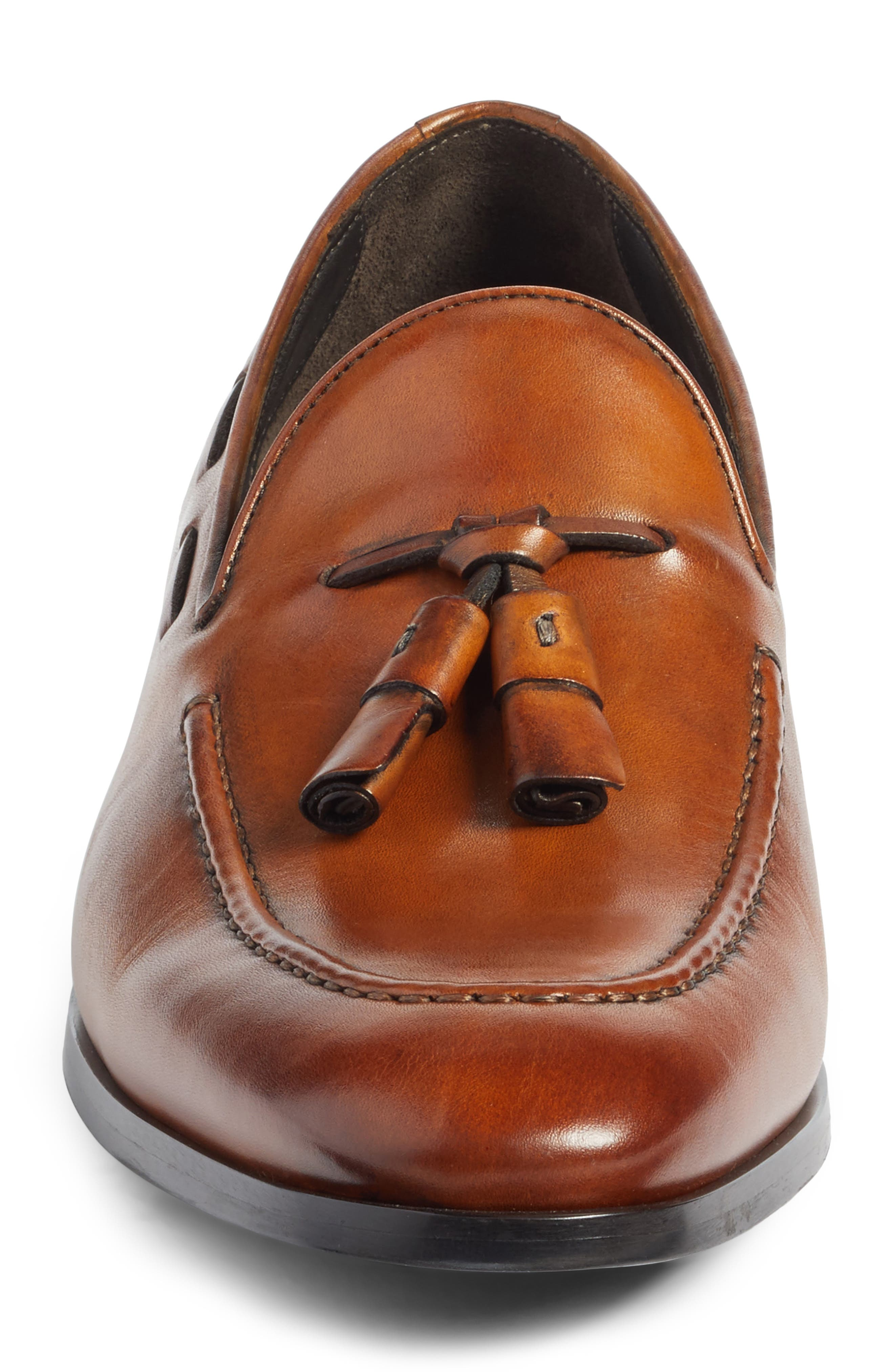 Barclay Tassel Loafer,                             Alternate thumbnail 4, color,                             Cognac Leather