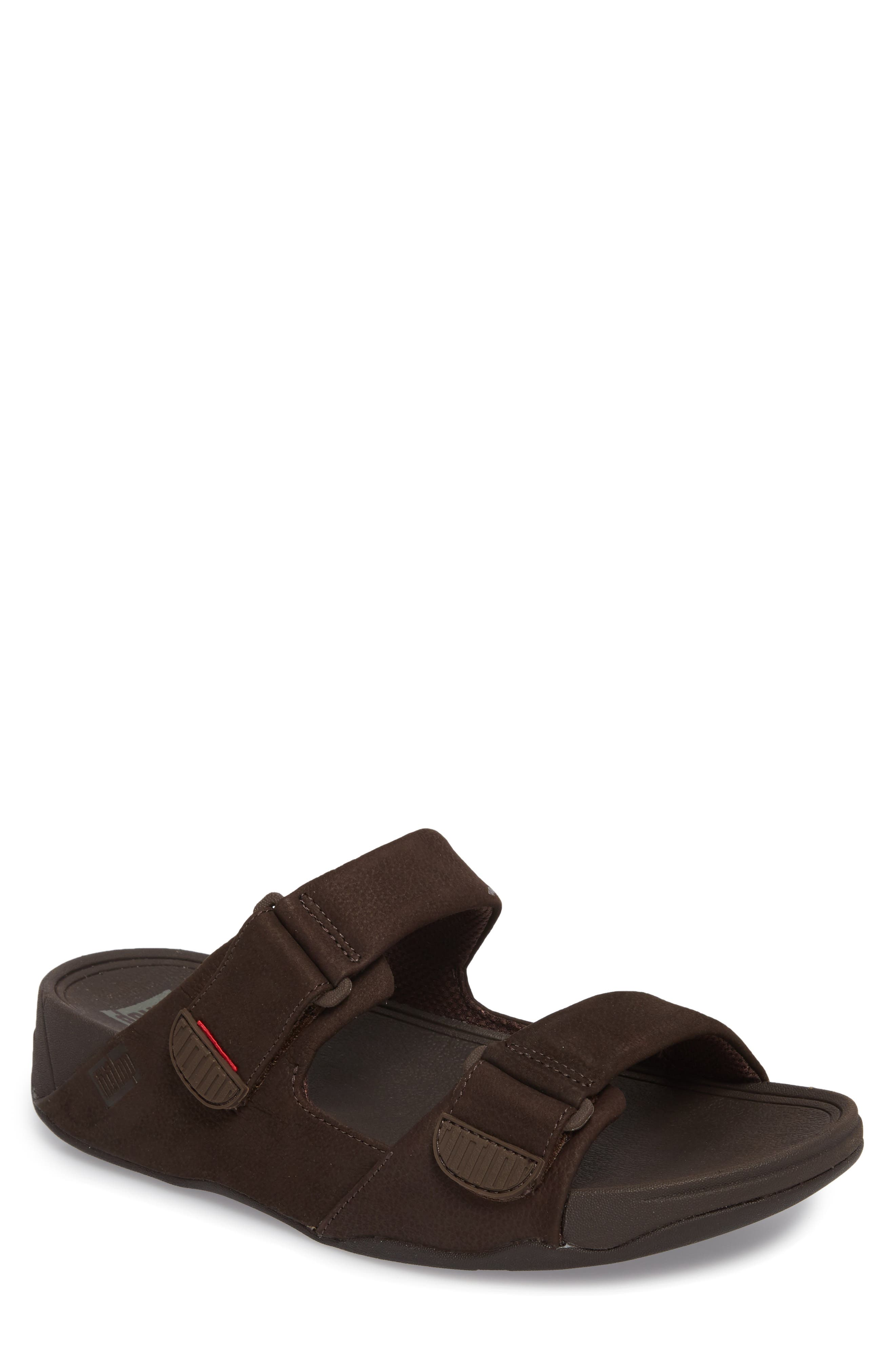 Gogh Sport Slide Sandal,                             Main thumbnail 1, color,                             Chocolate Brown